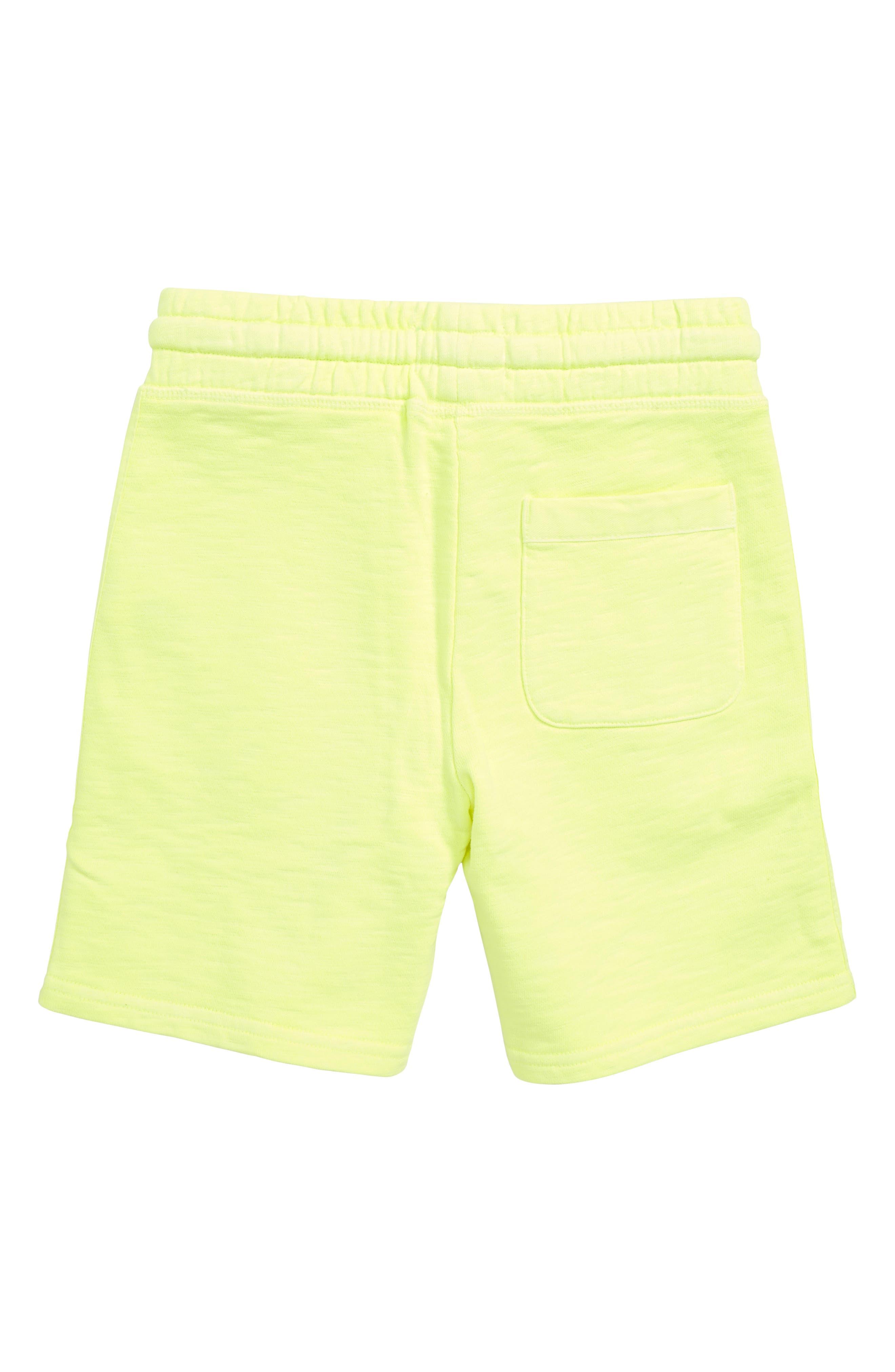 Garment Dyed Sweatshorts,                             Alternate thumbnail 2, color,                             Acid Yellow