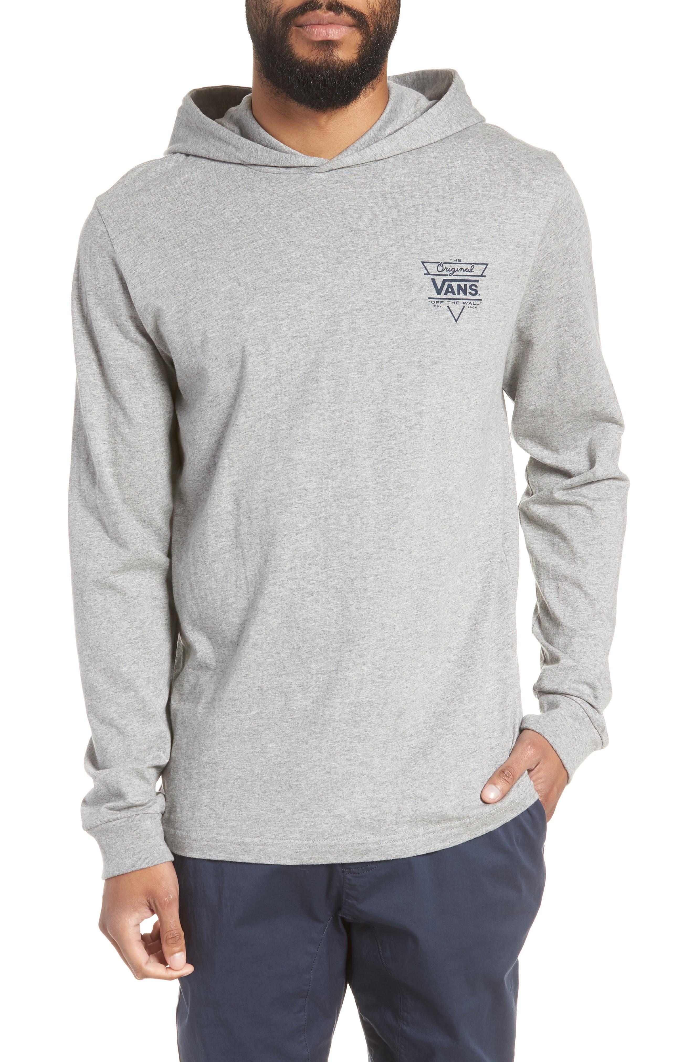 Van Doren Hooded T-Shirt,                             Main thumbnail 1, color,                             Cement Heather/ Dress Blues