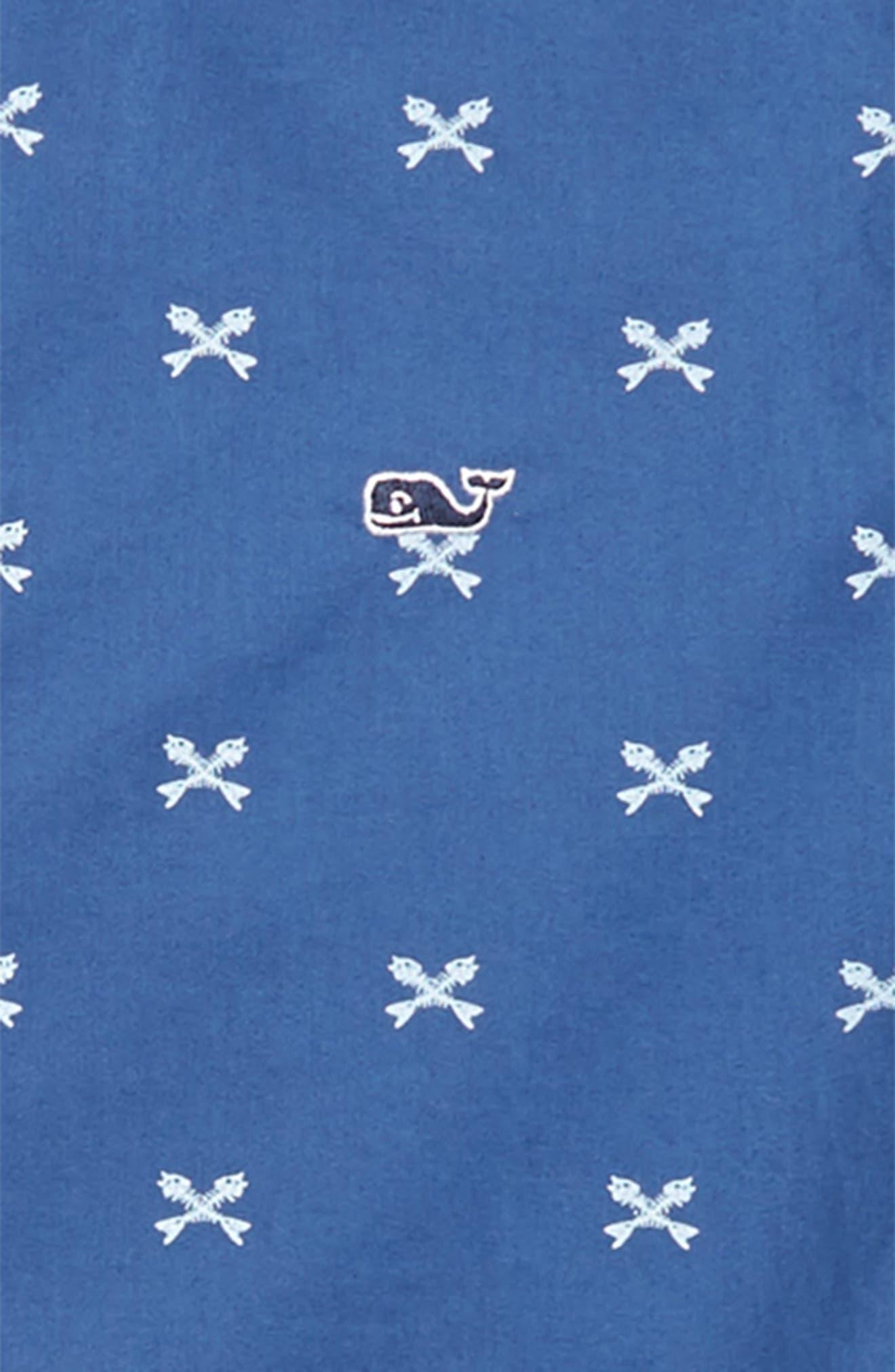 Crossed Fish Bone Woven Shirt,                             Alternate thumbnail 2, color,                             Moonshine