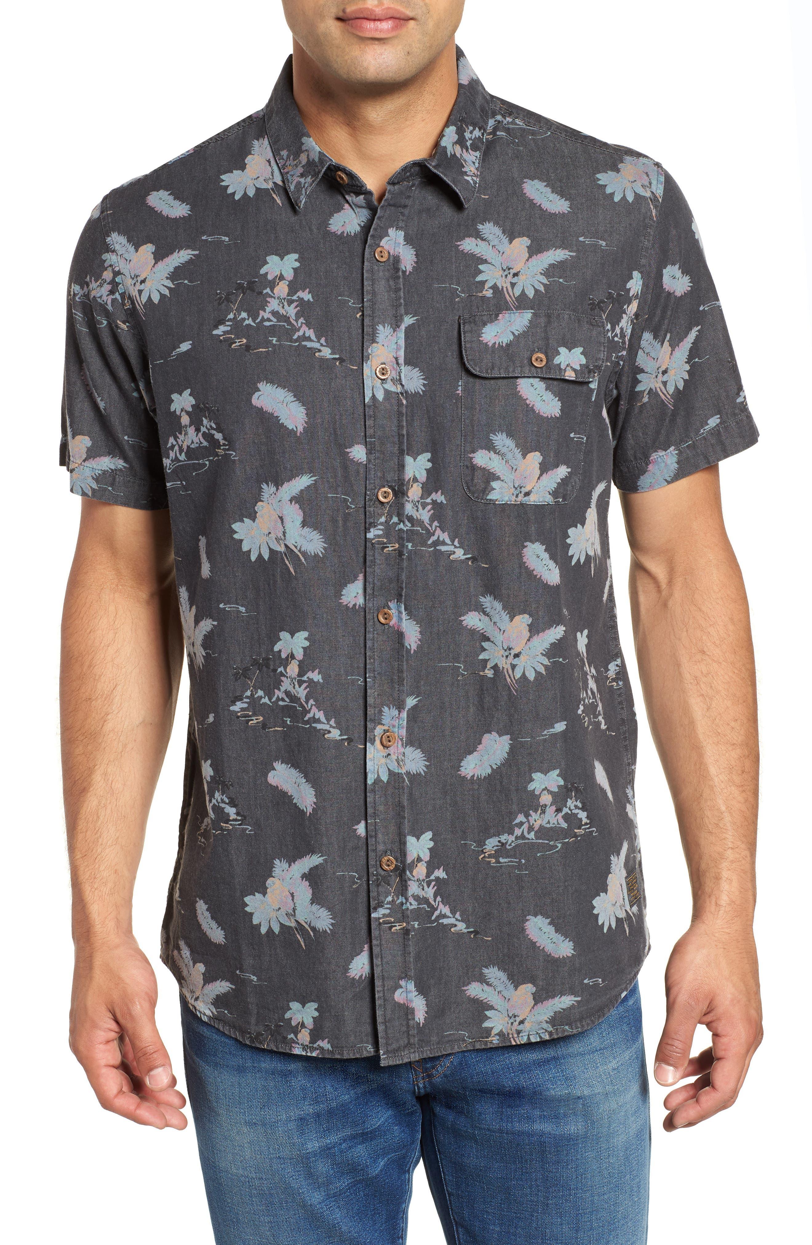 Meledrone Woven Shirt,                             Main thumbnail 1, color,                             Charcoal Grey