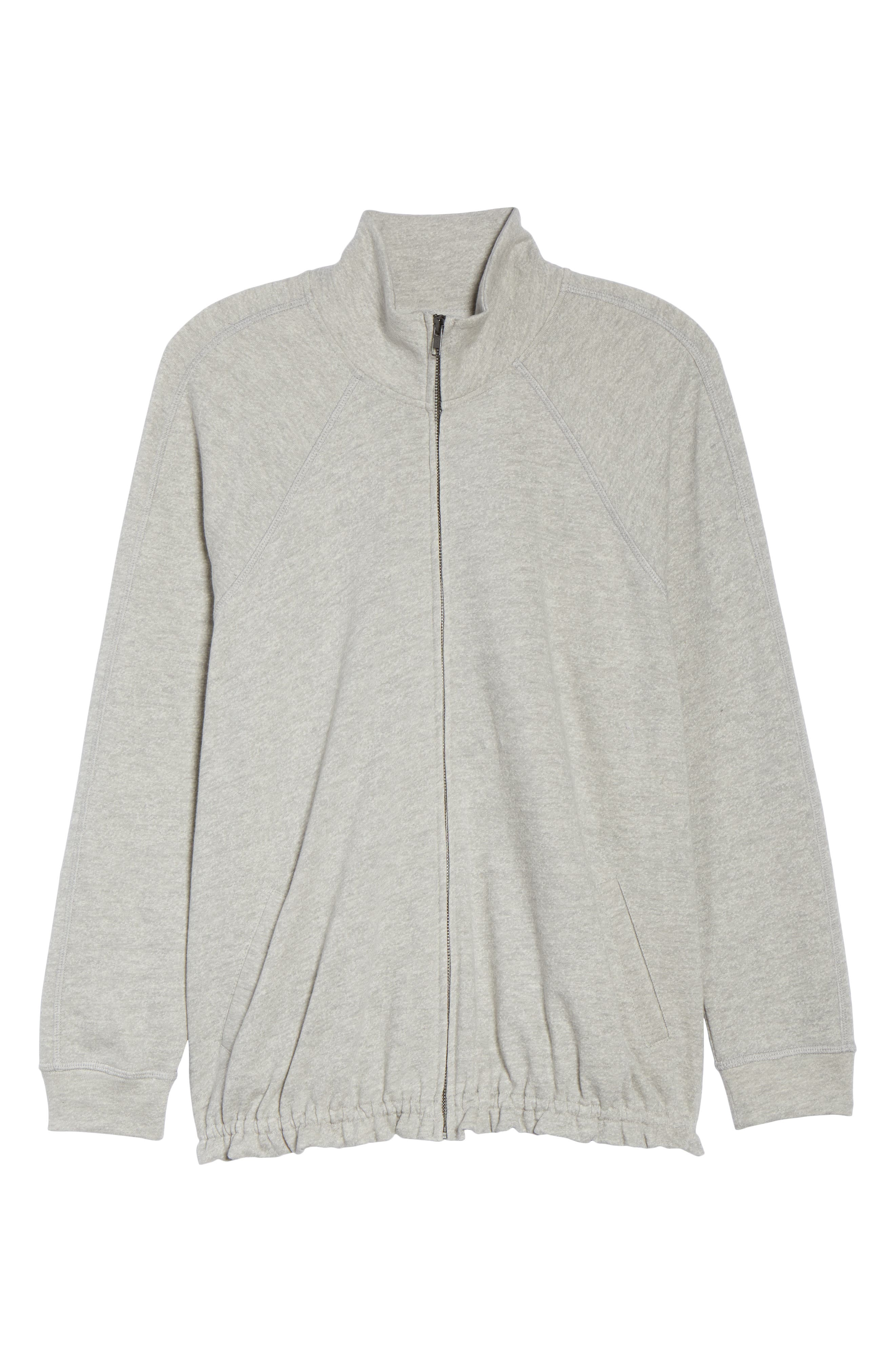 Off-Duty Knit Track Jacket,                             Alternate thumbnail 7, color,                             Grey Heather