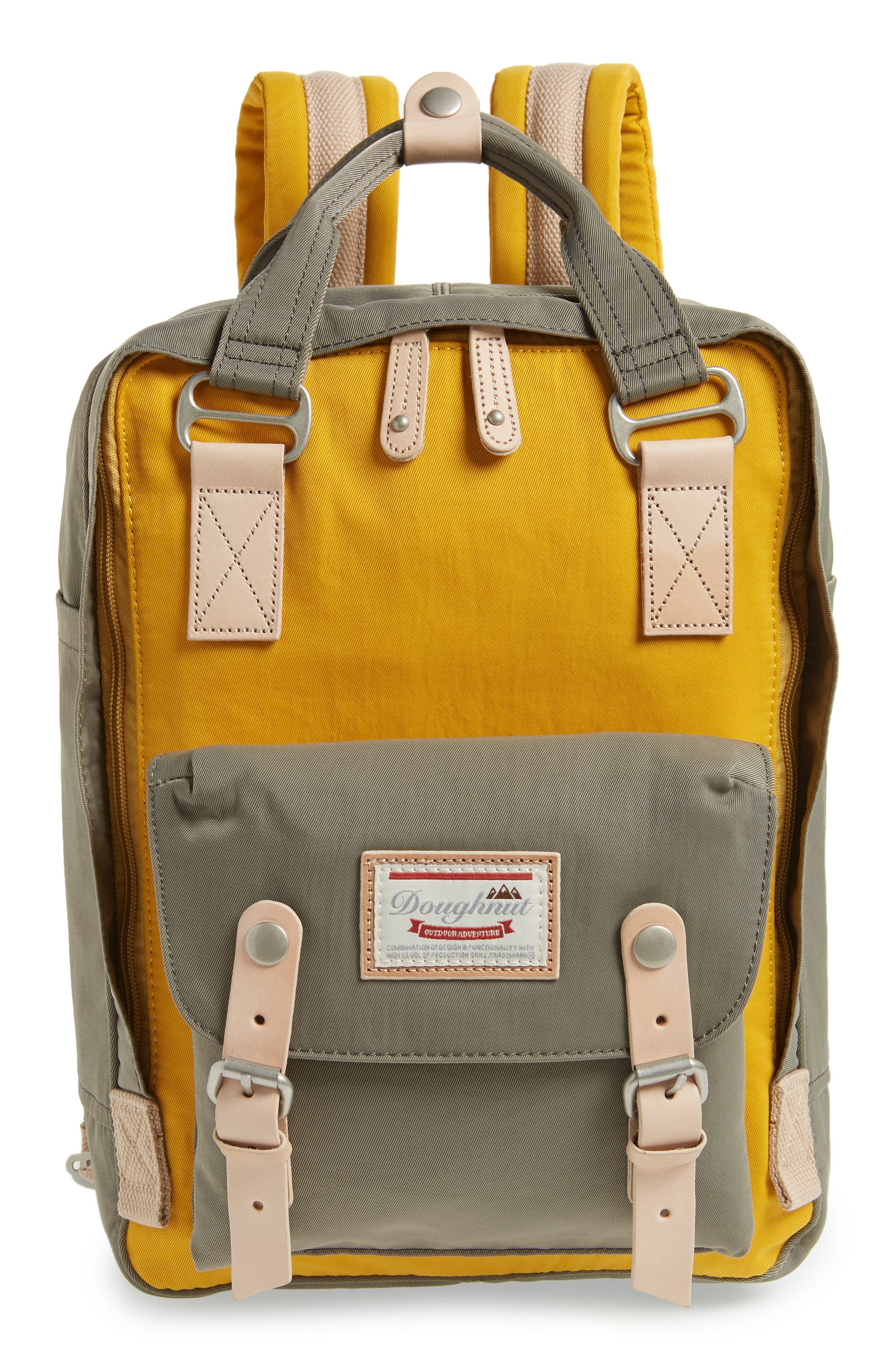 MACAROON COLORBLOCK BACKPACK - YELLOW