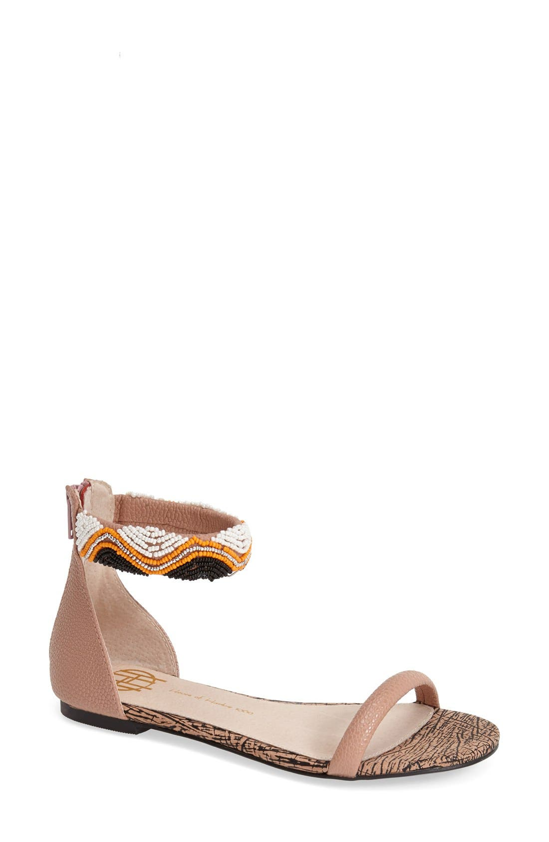 Alternate Image 1 Selected - House of Harlow 1960 Beaded Ankle Strap Sandal (Women)