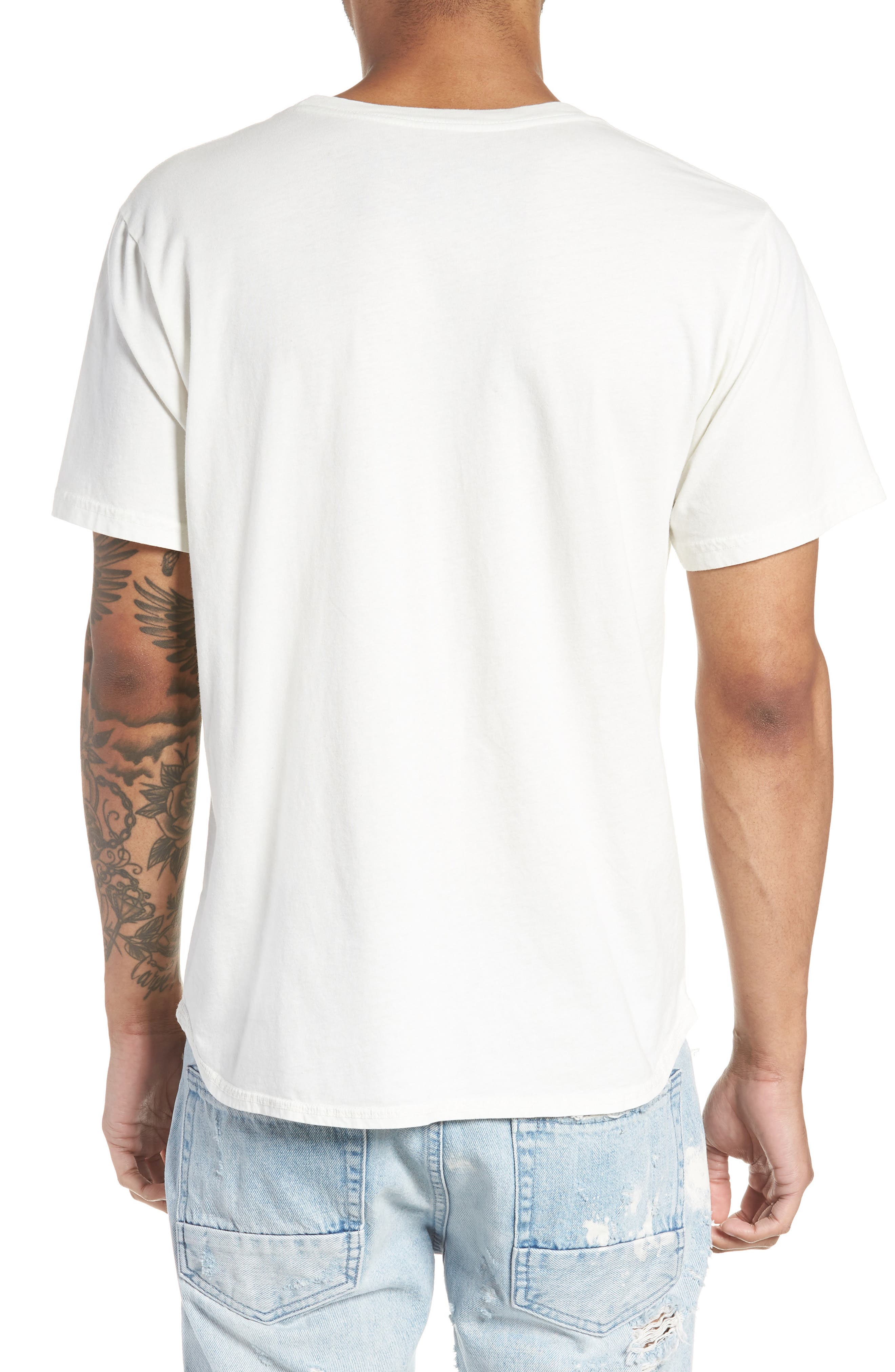 Don't Follow Crewneck T-shirt,                             Alternate thumbnail 2, color,                             Chalk White