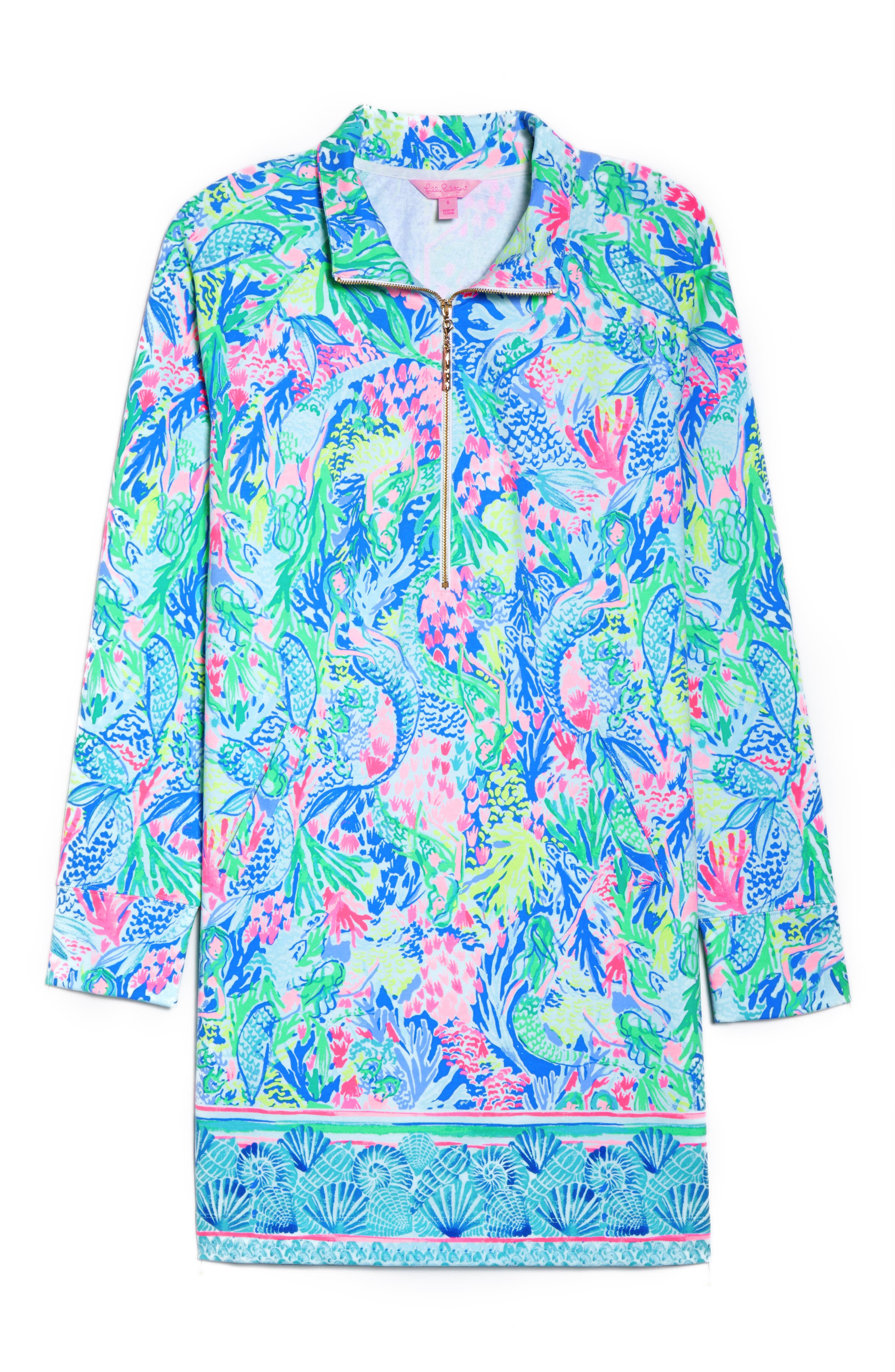 Lilly Pulitzer Skipper Shift Dress,                             Alternate thumbnail 6, color,                             Multi Mermaids Cove
