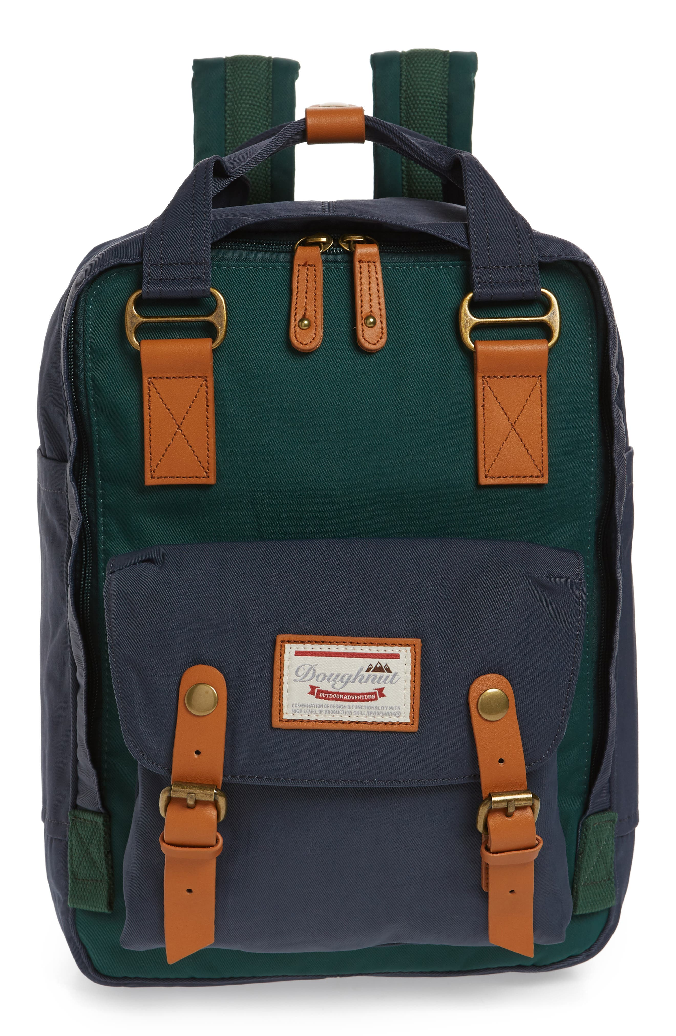 MACAROON COLORBLOCK BACKPACK - GREEN