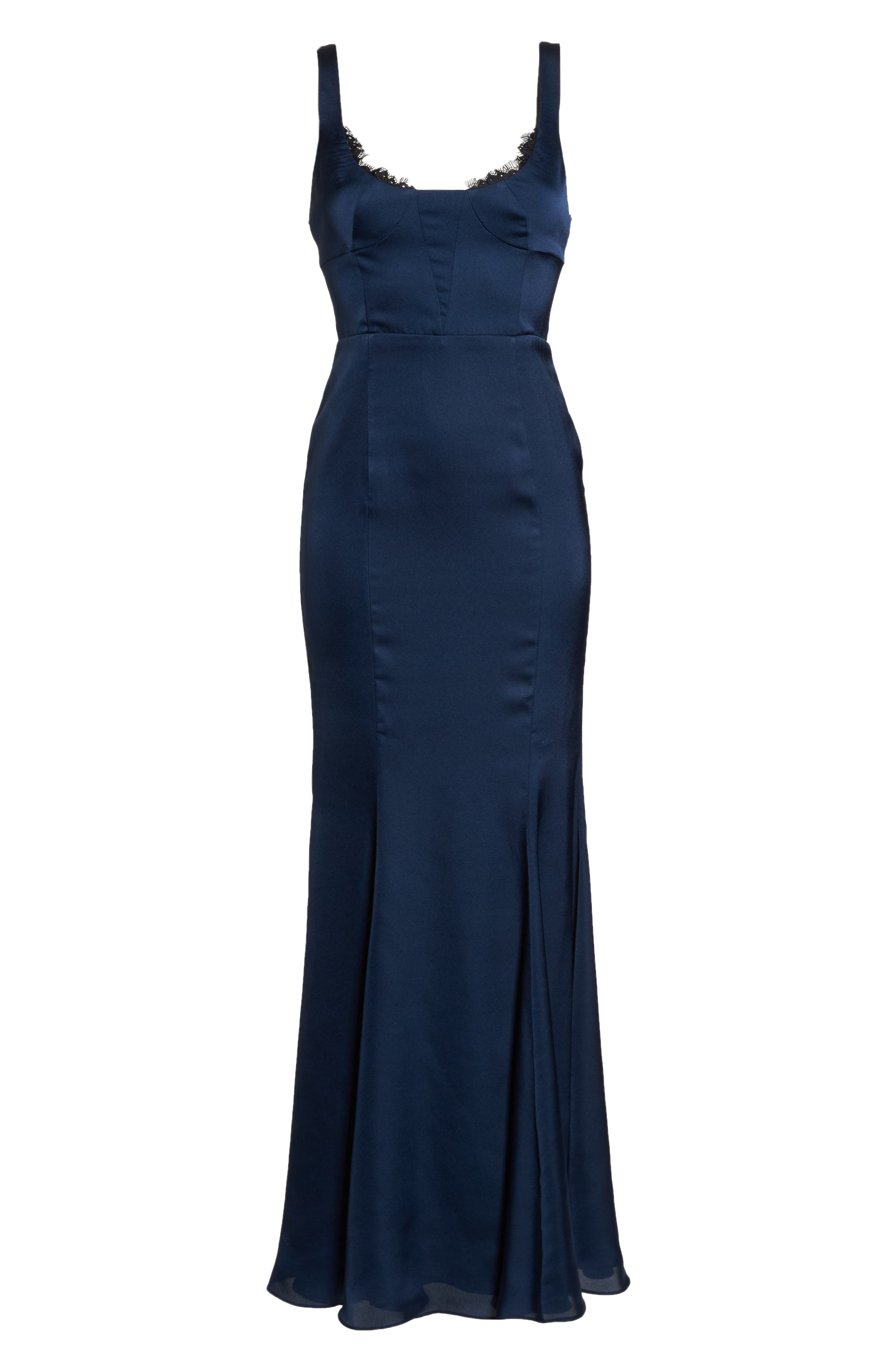 The Ara Trumpet Gown,                             Alternate thumbnail 6, color,                             Navy