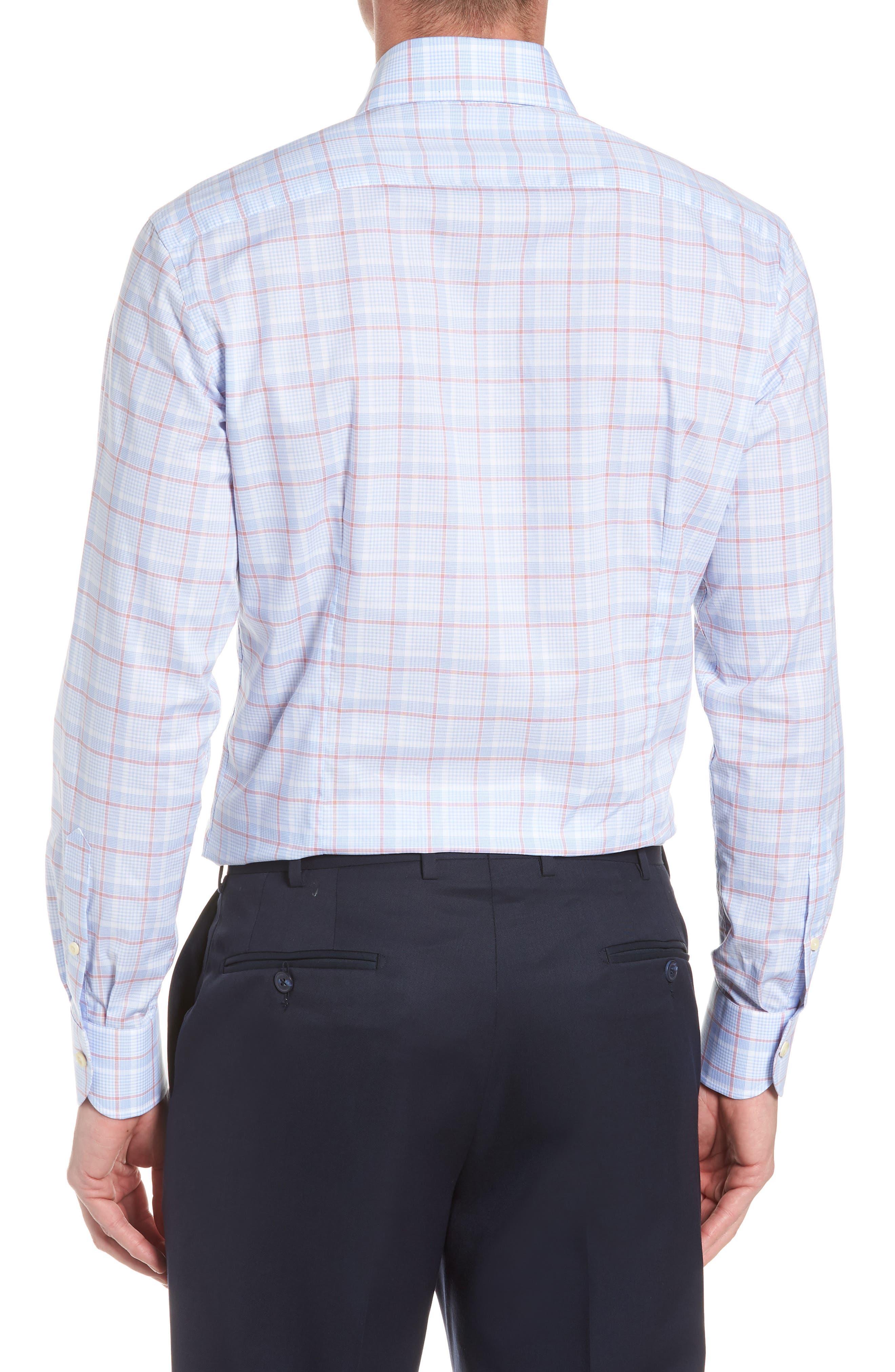 Conwell Slim Fit Plaid Dress Shirt,                             Alternate thumbnail 3, color,                             Blue