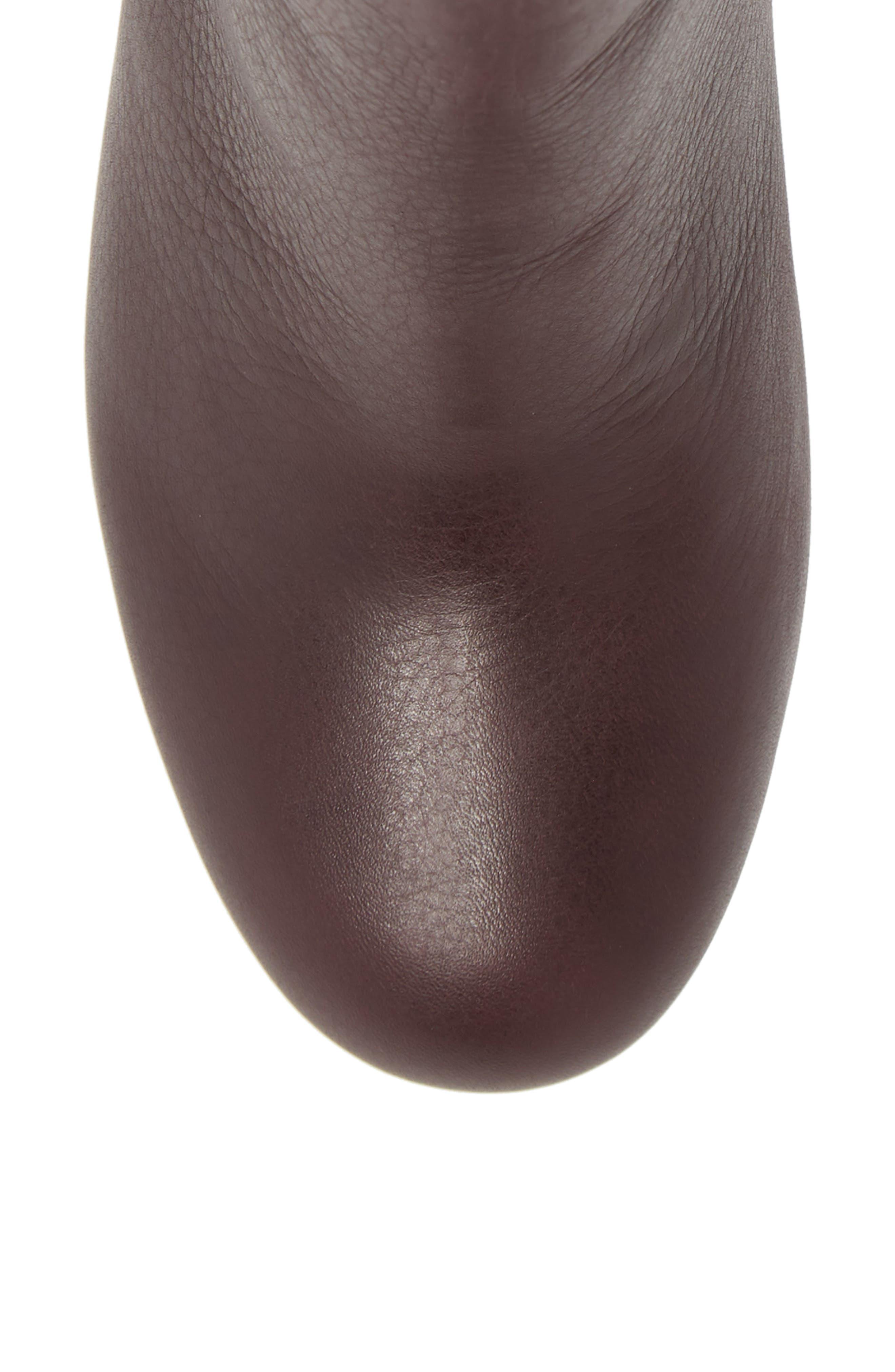 Nixie II Bootie,                             Alternate thumbnail 5, color,                             Deep Plum Leather