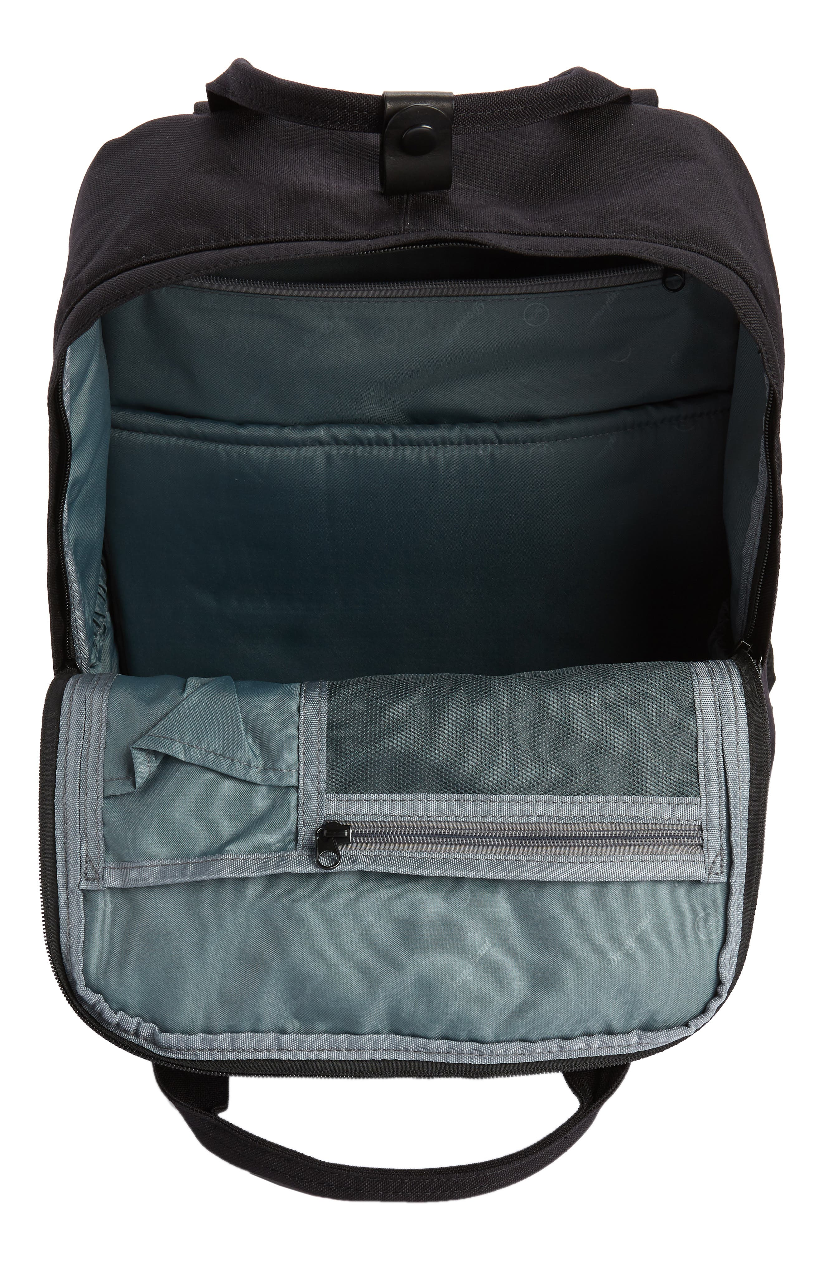 Macaroon Large Cordura<sup>®</sup> Black Series Water Repellent Backpack,                             Alternate thumbnail 4, color,                             Black