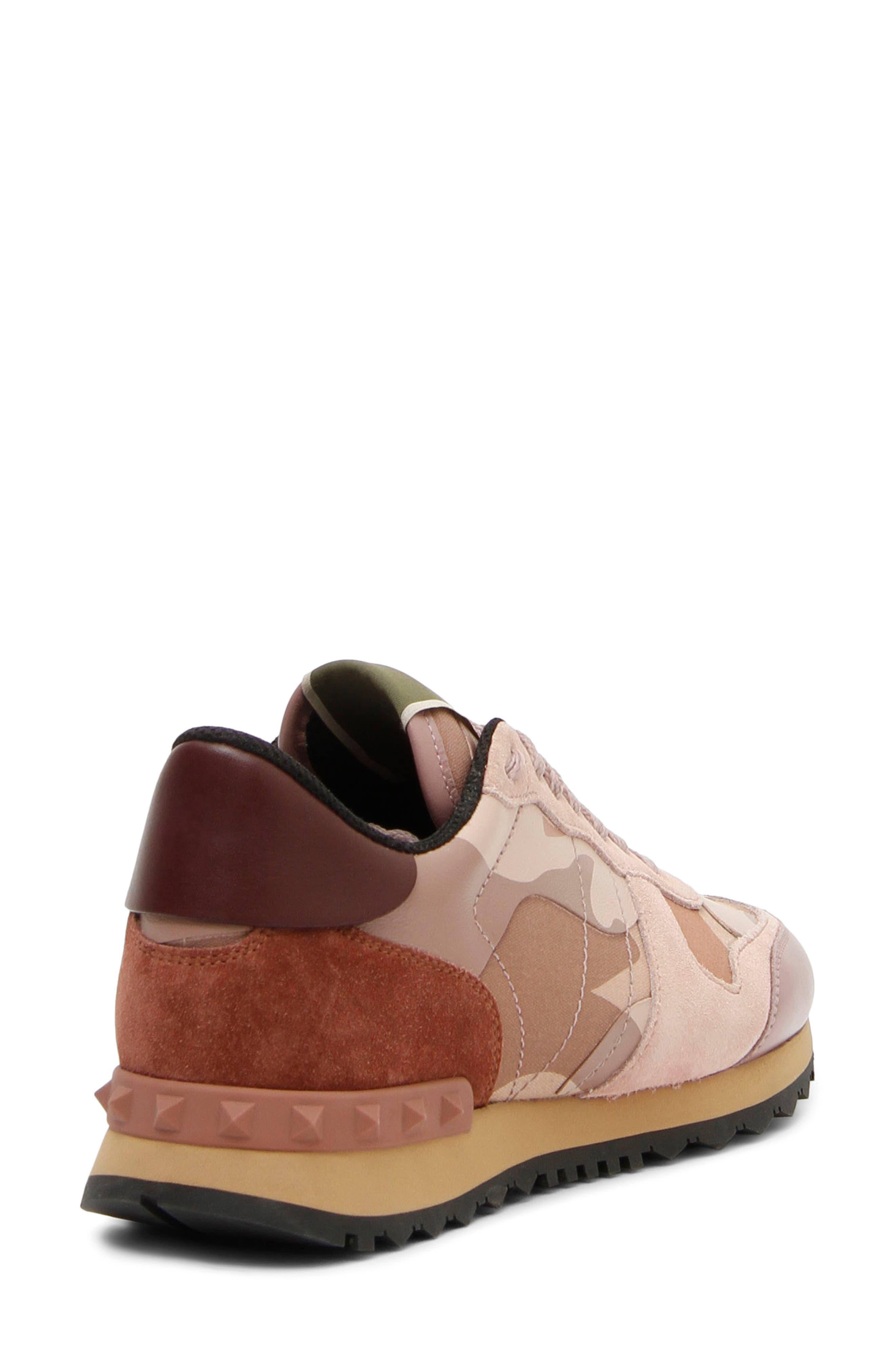 Rockstud Sneaker,                             Alternate thumbnail 3, color,                             Poudre/ Rose