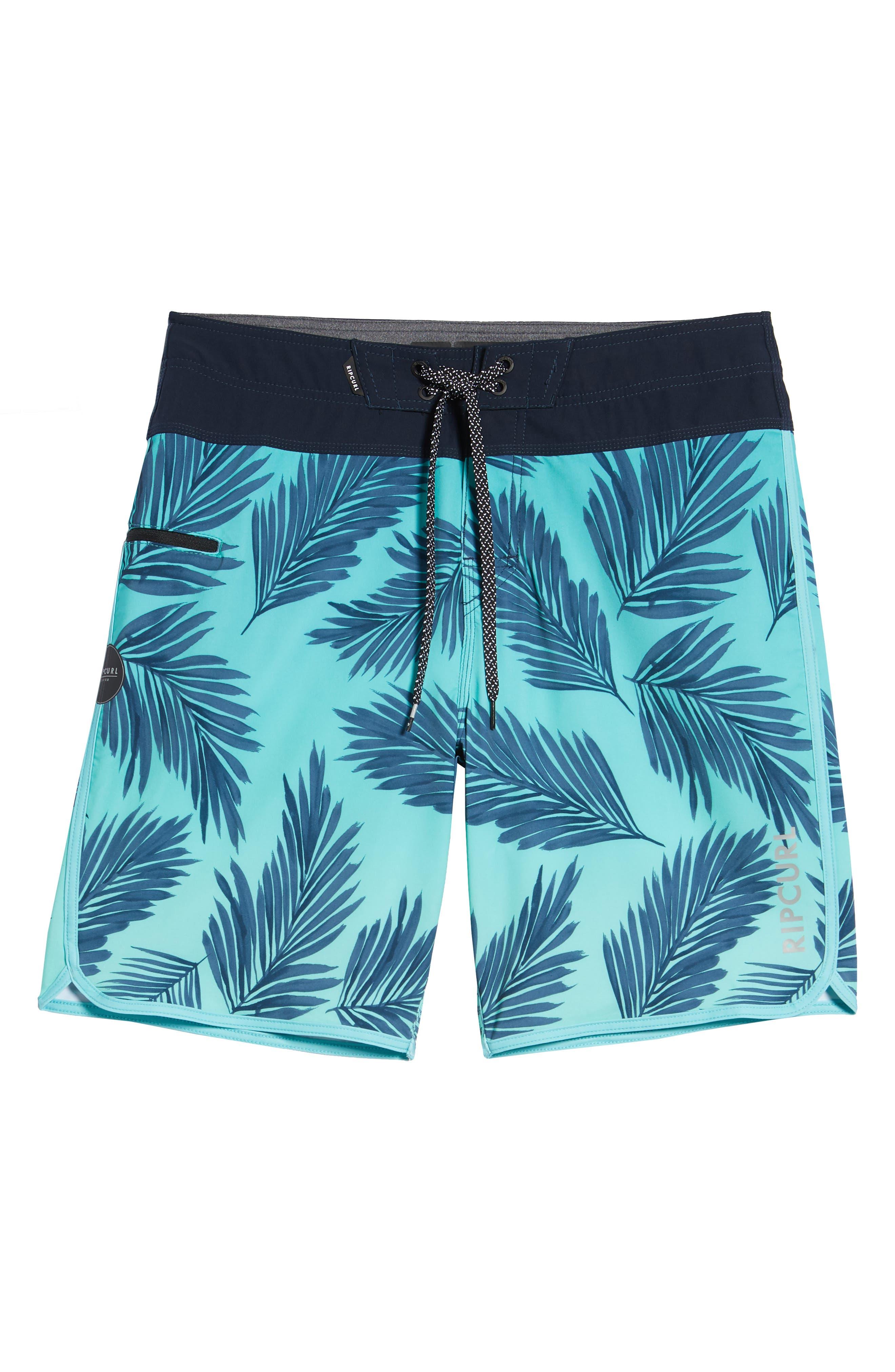 Mirage Mason Rockies Board Shorts,                             Alternate thumbnail 6, color,                             Teal
