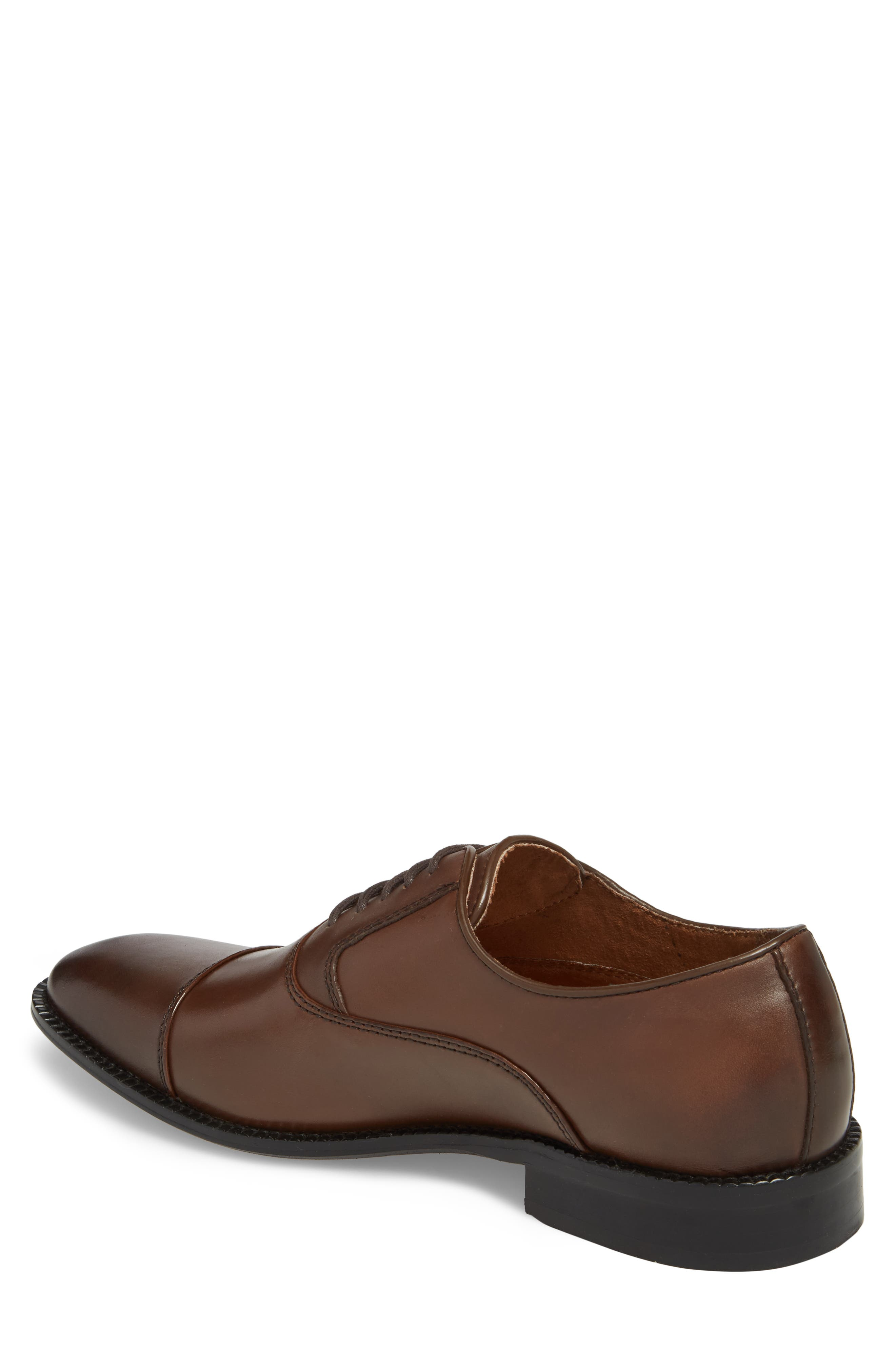 Dice Cap Toe Oxford,                             Alternate thumbnail 2, color,                             Brown Leather