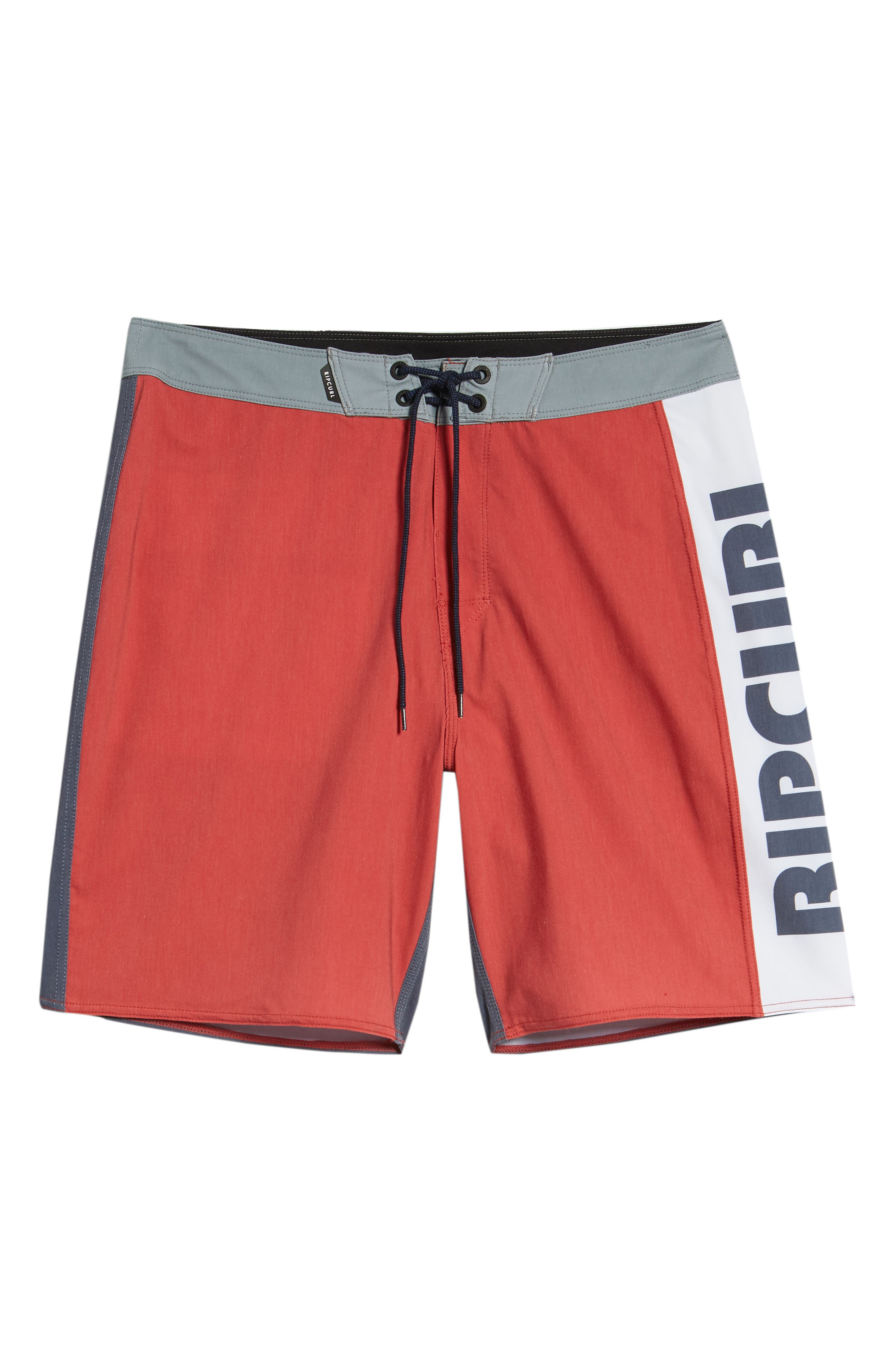 Mirage Owen Stretch Board Shorts,                             Alternate thumbnail 6, color,                             Red