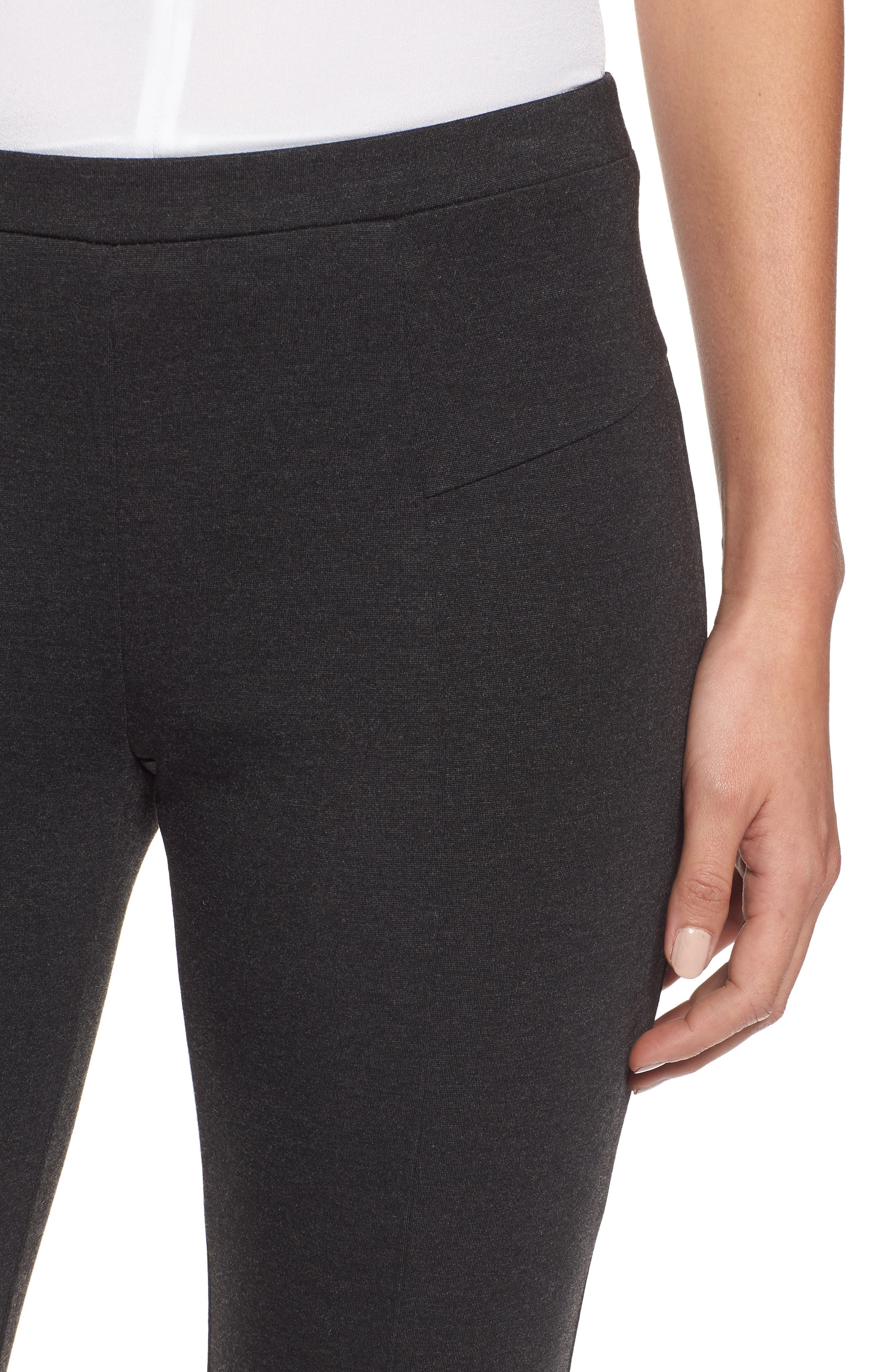 'The Perfect Ponte' Pants,                             Alternate thumbnail 4, color,                             Phantom Heather