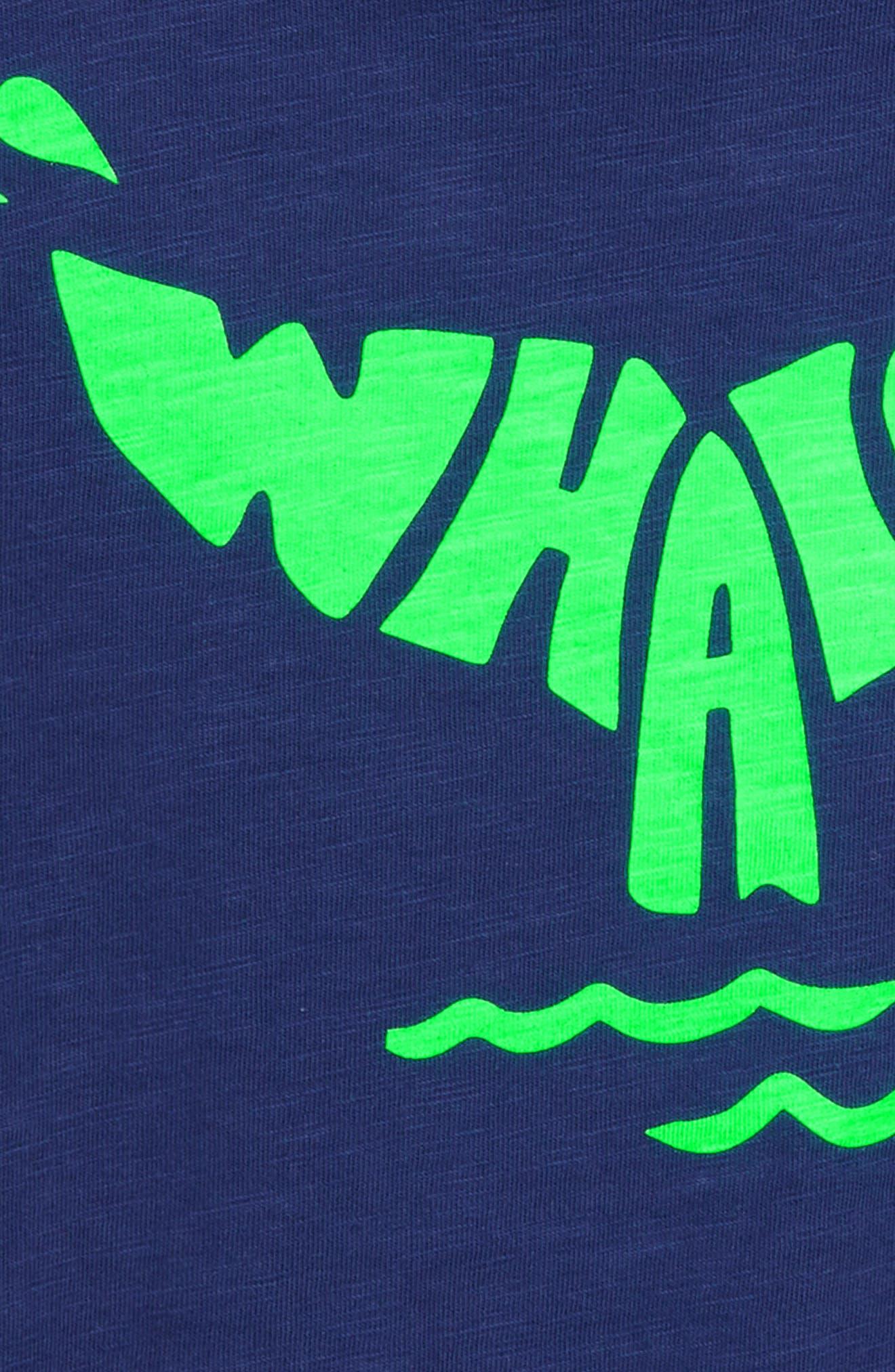 Fluoro Whale T-Shirt,                             Alternate thumbnail 2, color,                             Beacon Blue Whale