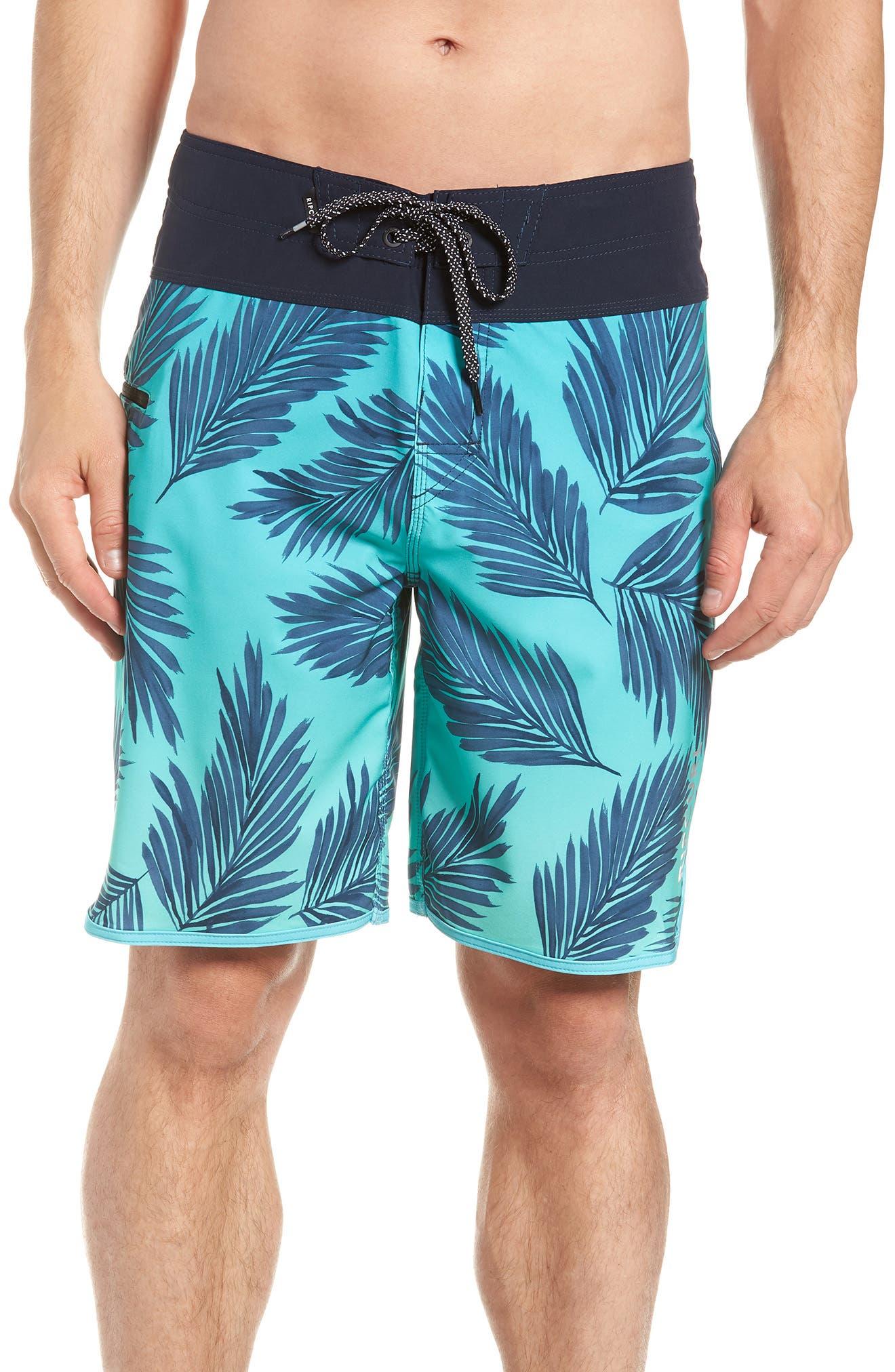 Mirage Mason Rockies Board Shorts,                             Main thumbnail 1, color,                             Teal