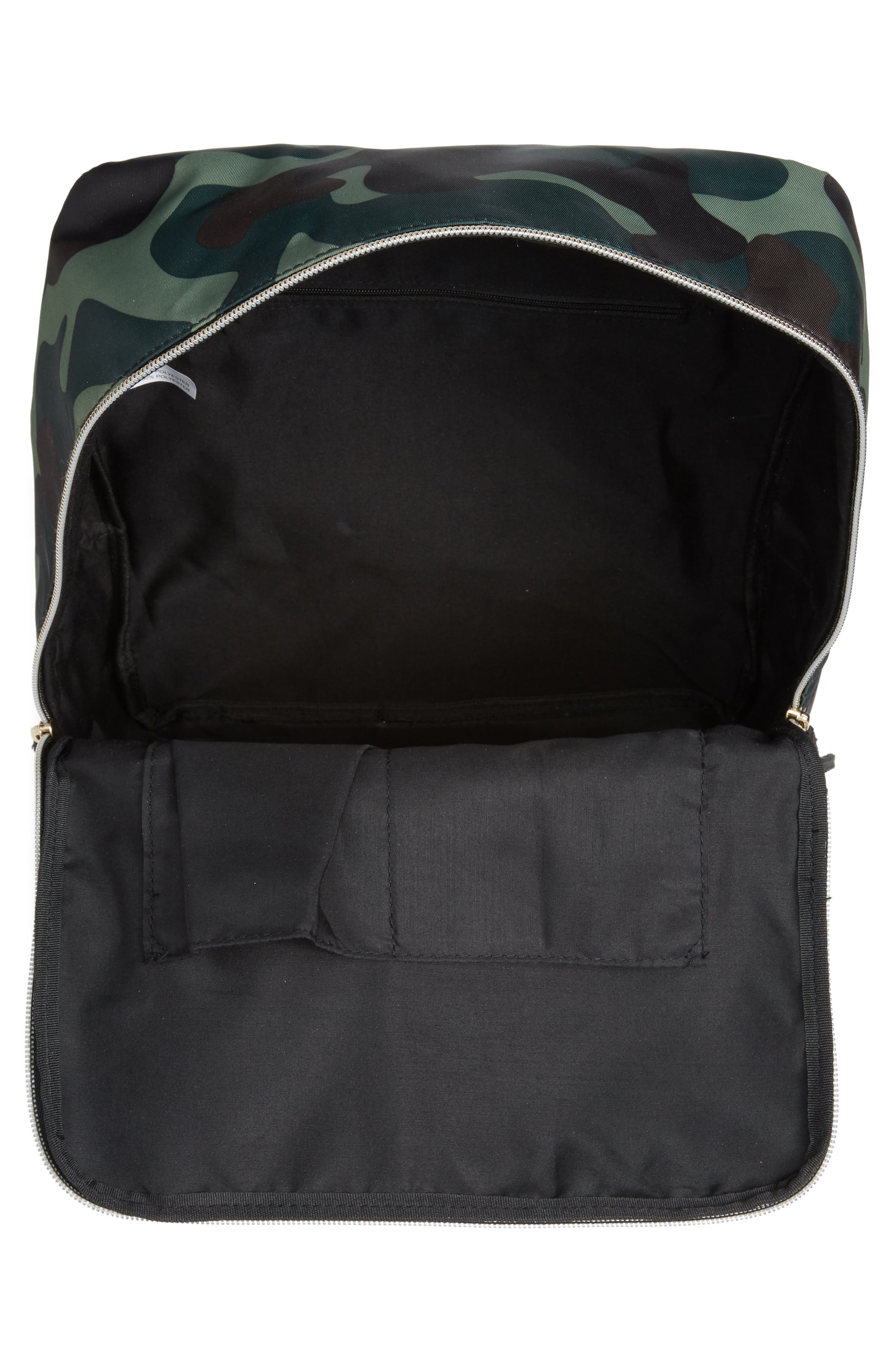 Camouflage Nylon Backpack,                             Alternate thumbnail 4, color,                             Camo Green