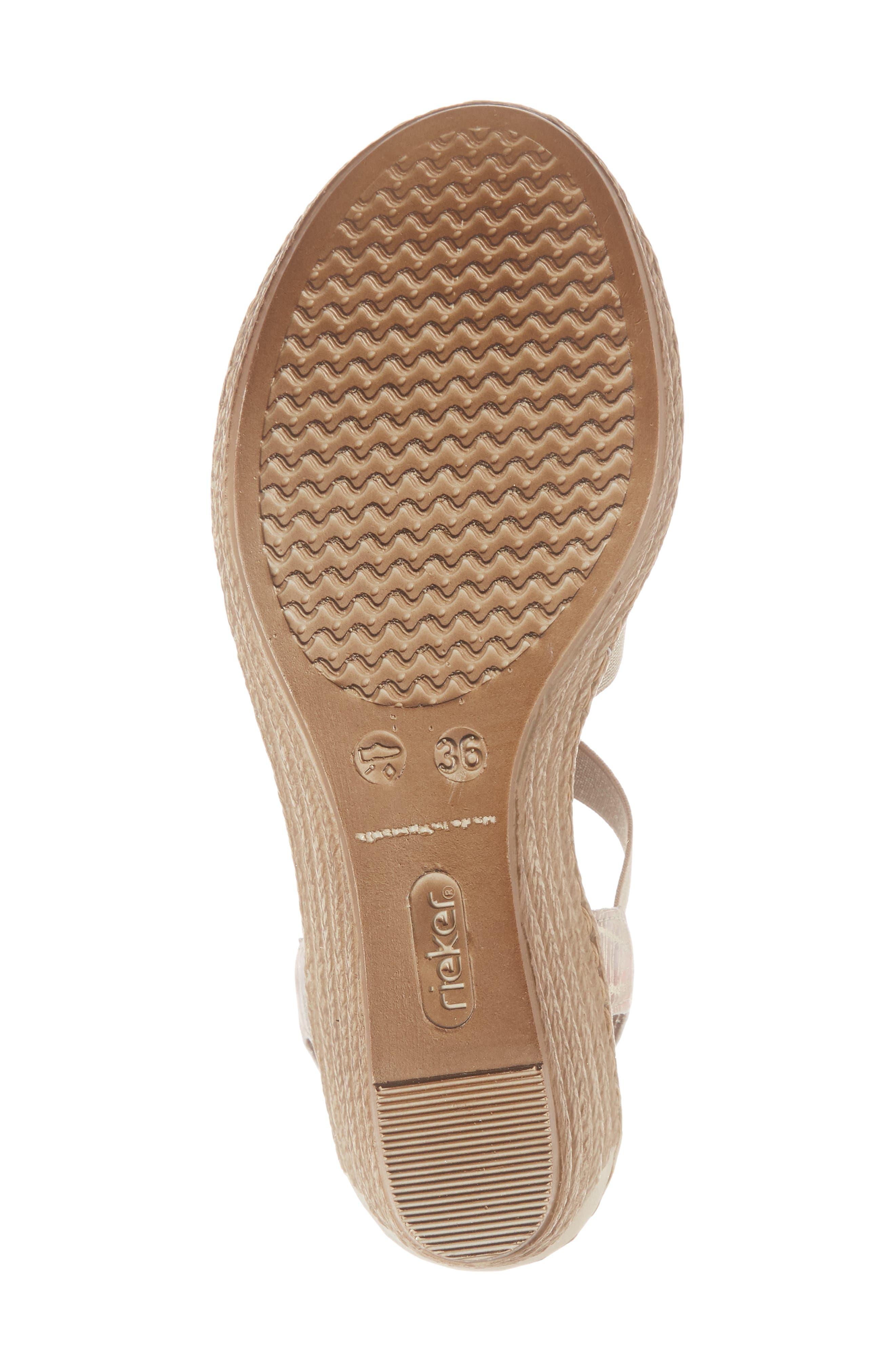 'Fanni' Wedge Sandal,                             Alternate thumbnail 6, color,                             Multi Metal
