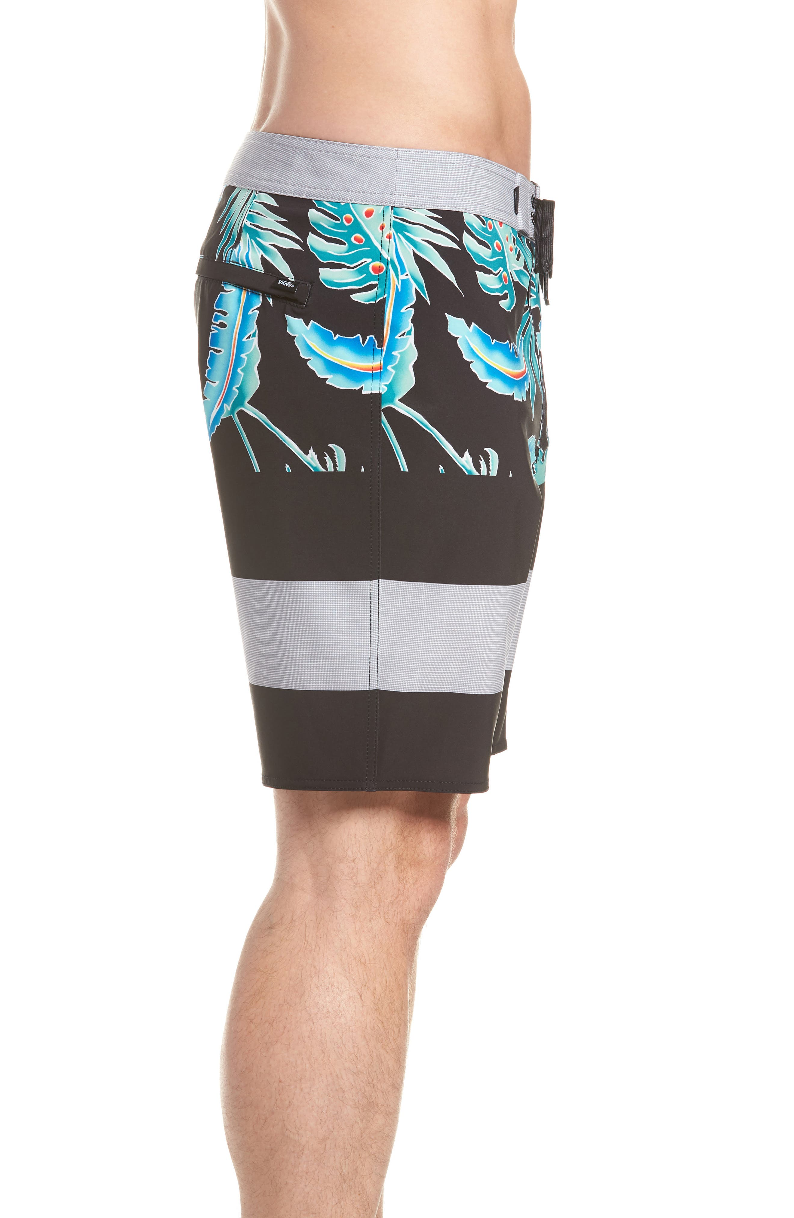 Era Board Shorts,                             Alternate thumbnail 3, color,                             Black Pit Stop Floral