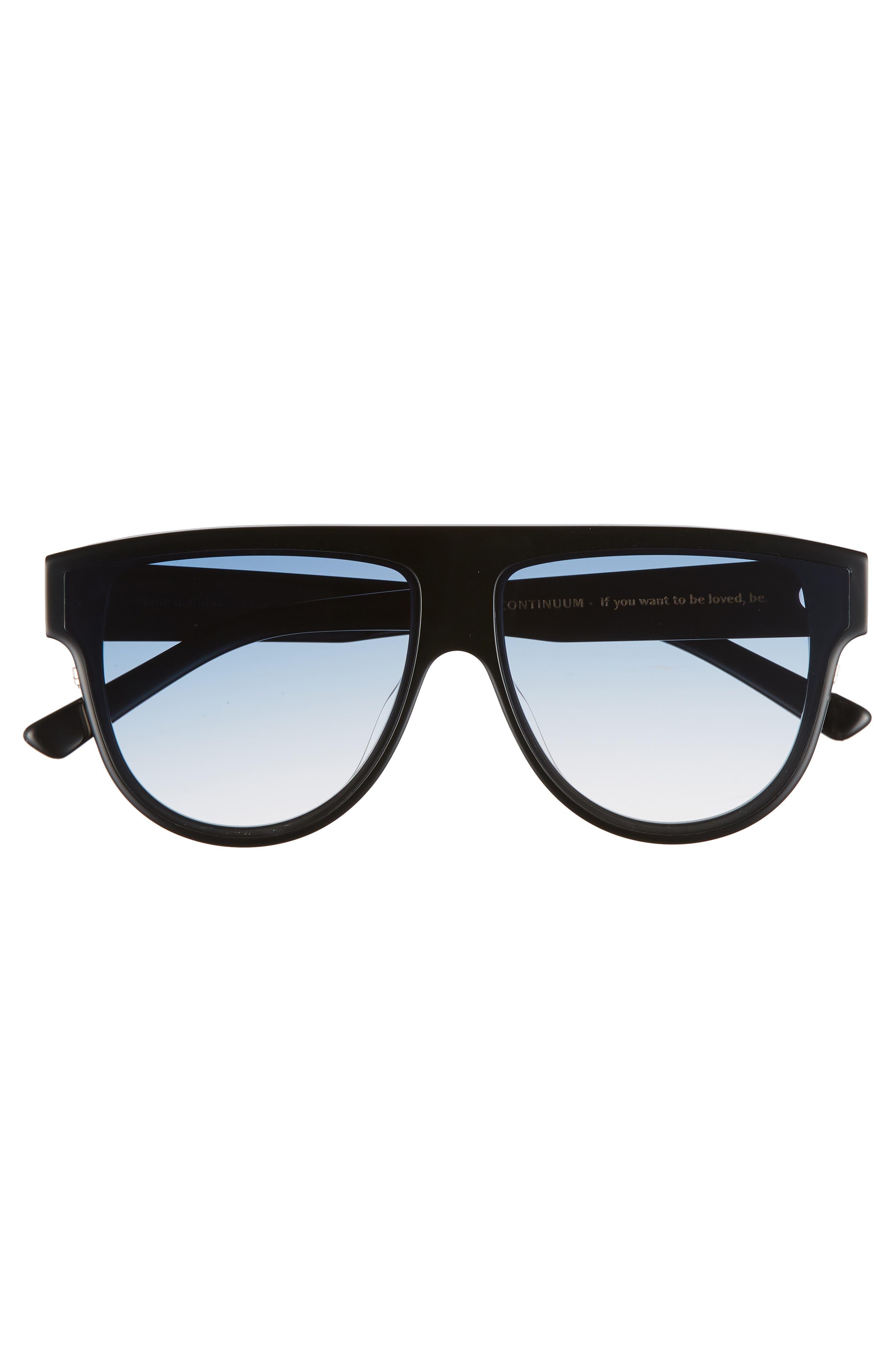 Continuum 63mm Oversize Flat Top Sunglasses,                             Alternate thumbnail 3, color,                             Blue Gradient