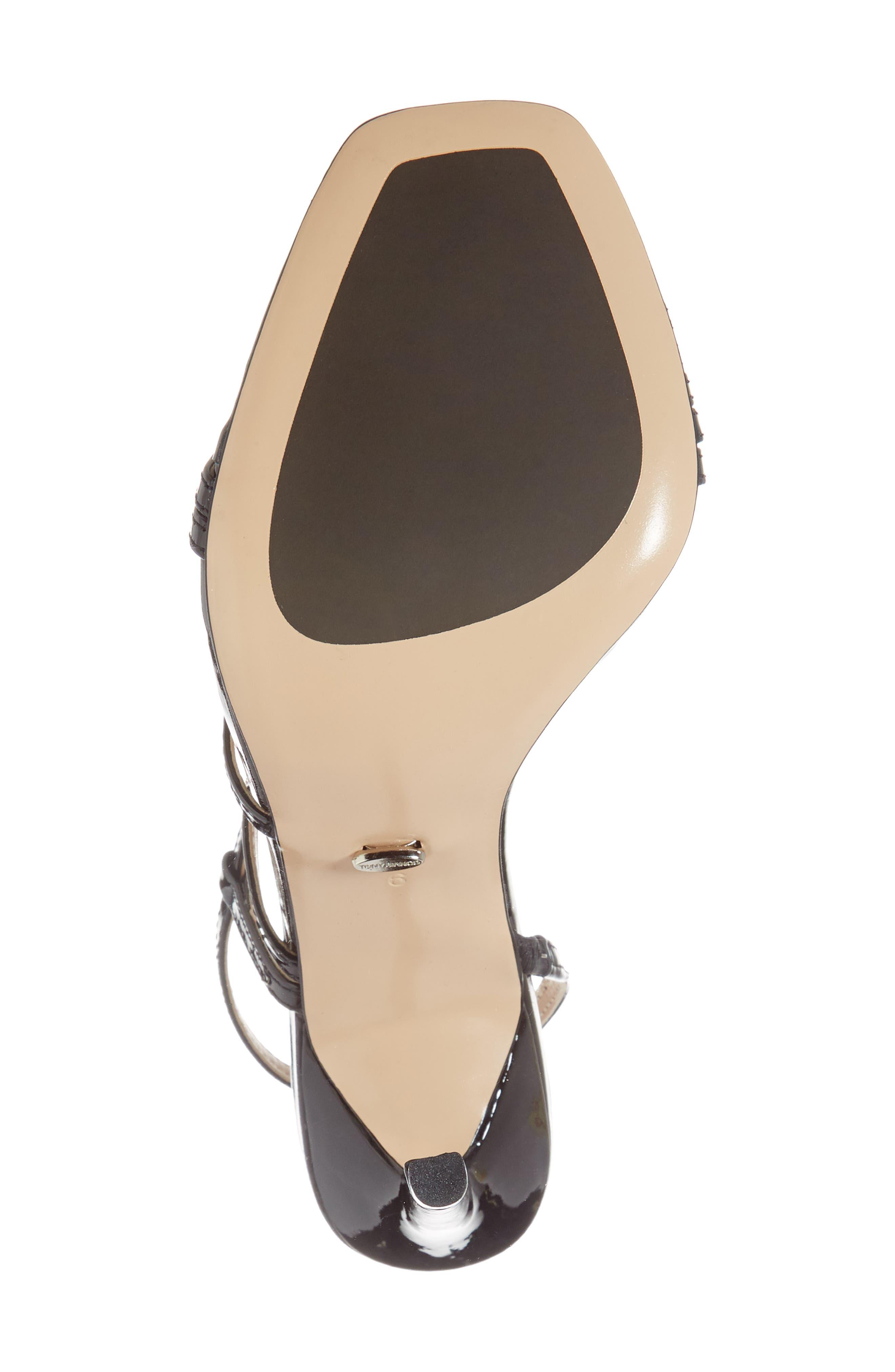 Selena Sandal,                             Alternate thumbnail 4, color,                             Black Patent Leather