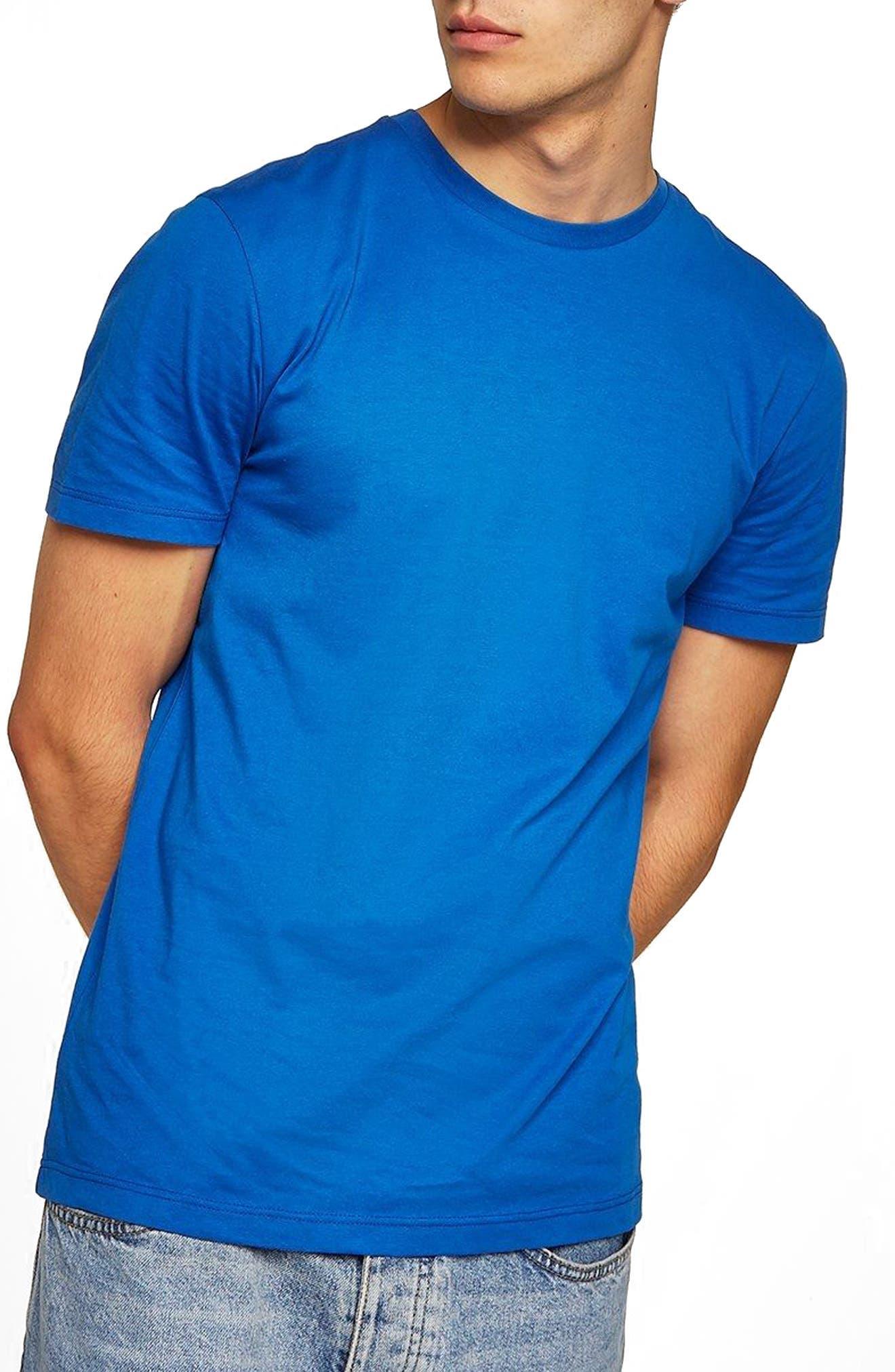 Slim Fit Crewneck T-Shirt,                             Main thumbnail 1, color,                             Dark Blue