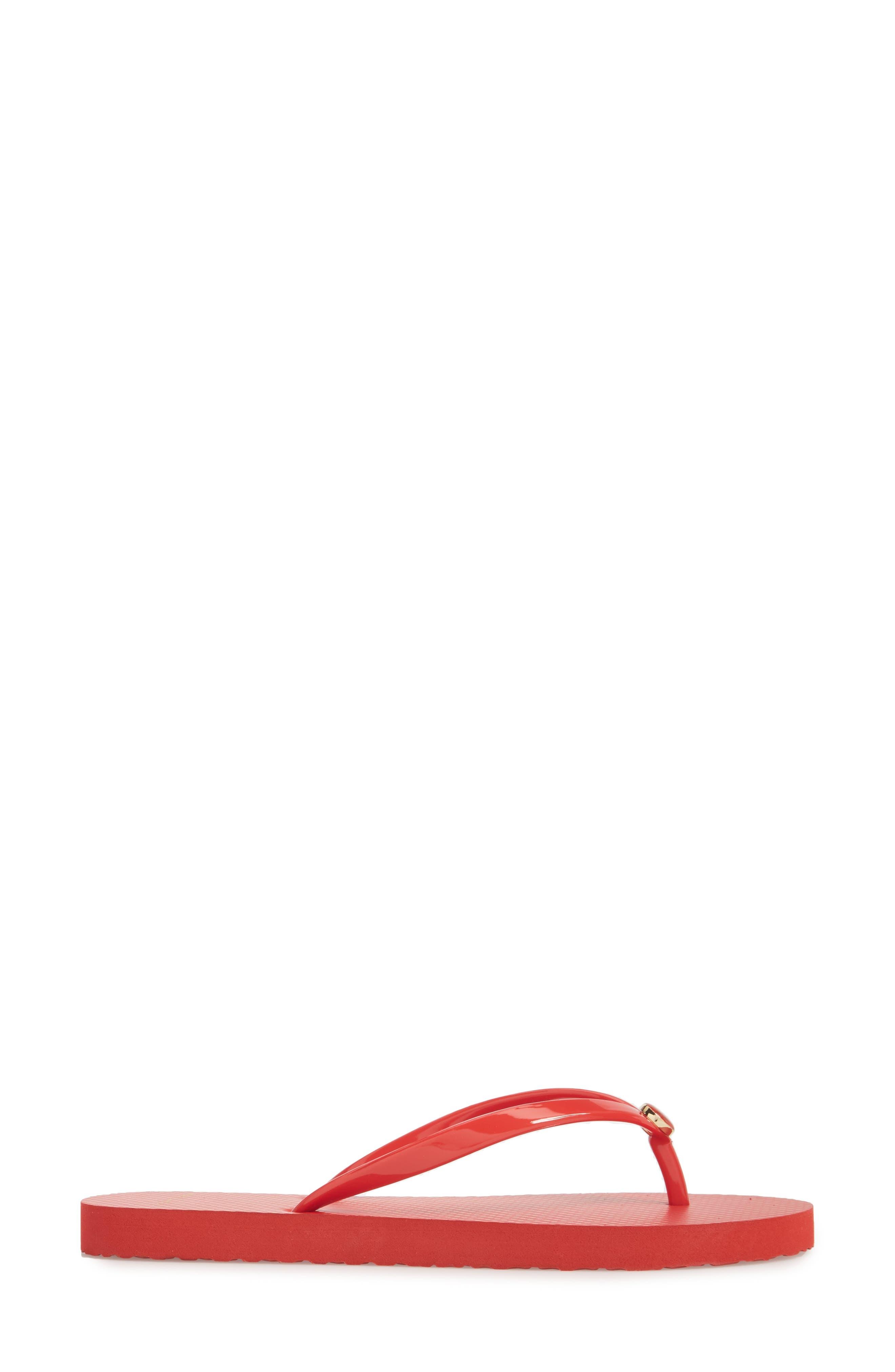 Logo Flip Flop,                             Alternate thumbnail 3, color,                             Brilliant Red