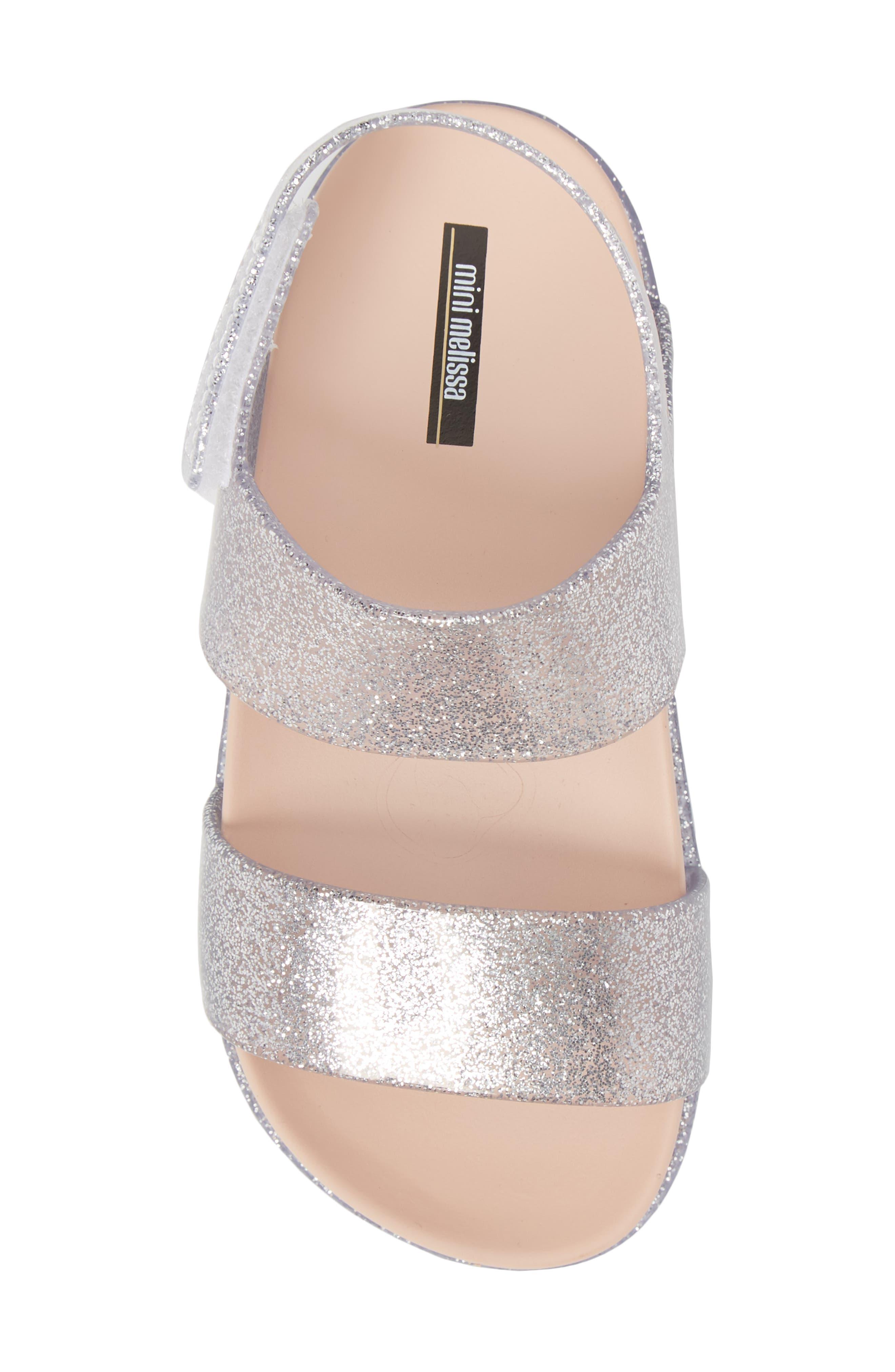 Glittery Cosmic Sandal,                             Alternate thumbnail 5, color,                             Pink Silver Sparkle