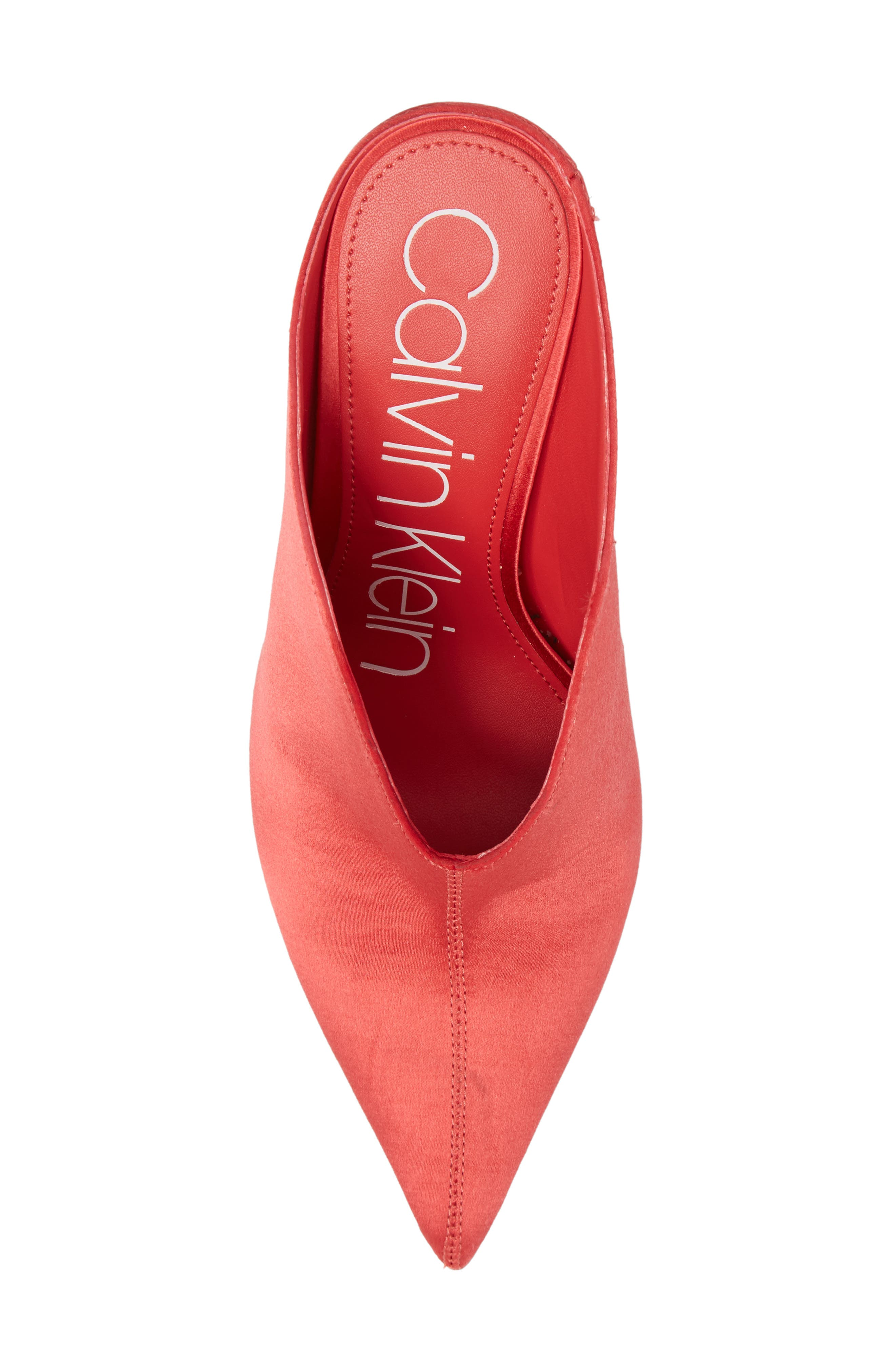 Mallie Pointy Toe Mule,                             Alternate thumbnail 5, color,                             Rose Quartz Fabric