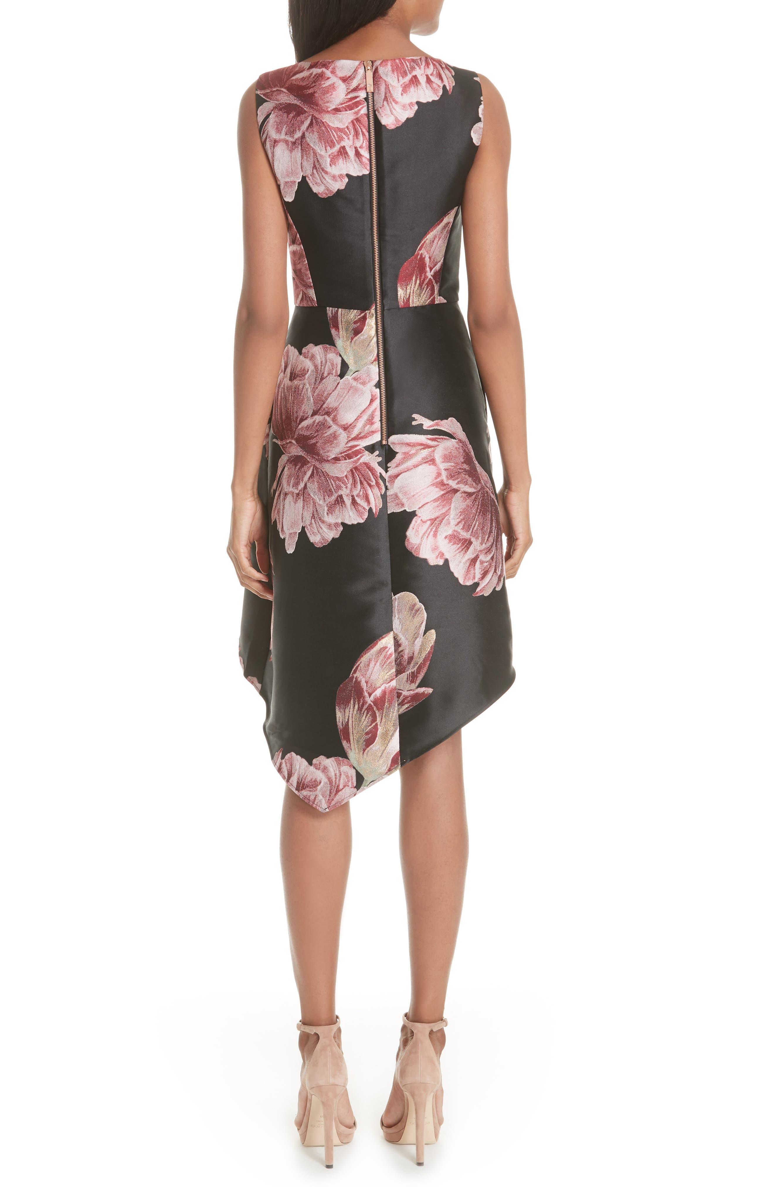 Eyvii Bay of Honour Asymmetrical Dress,                             Alternate thumbnail 2, color,                             Black