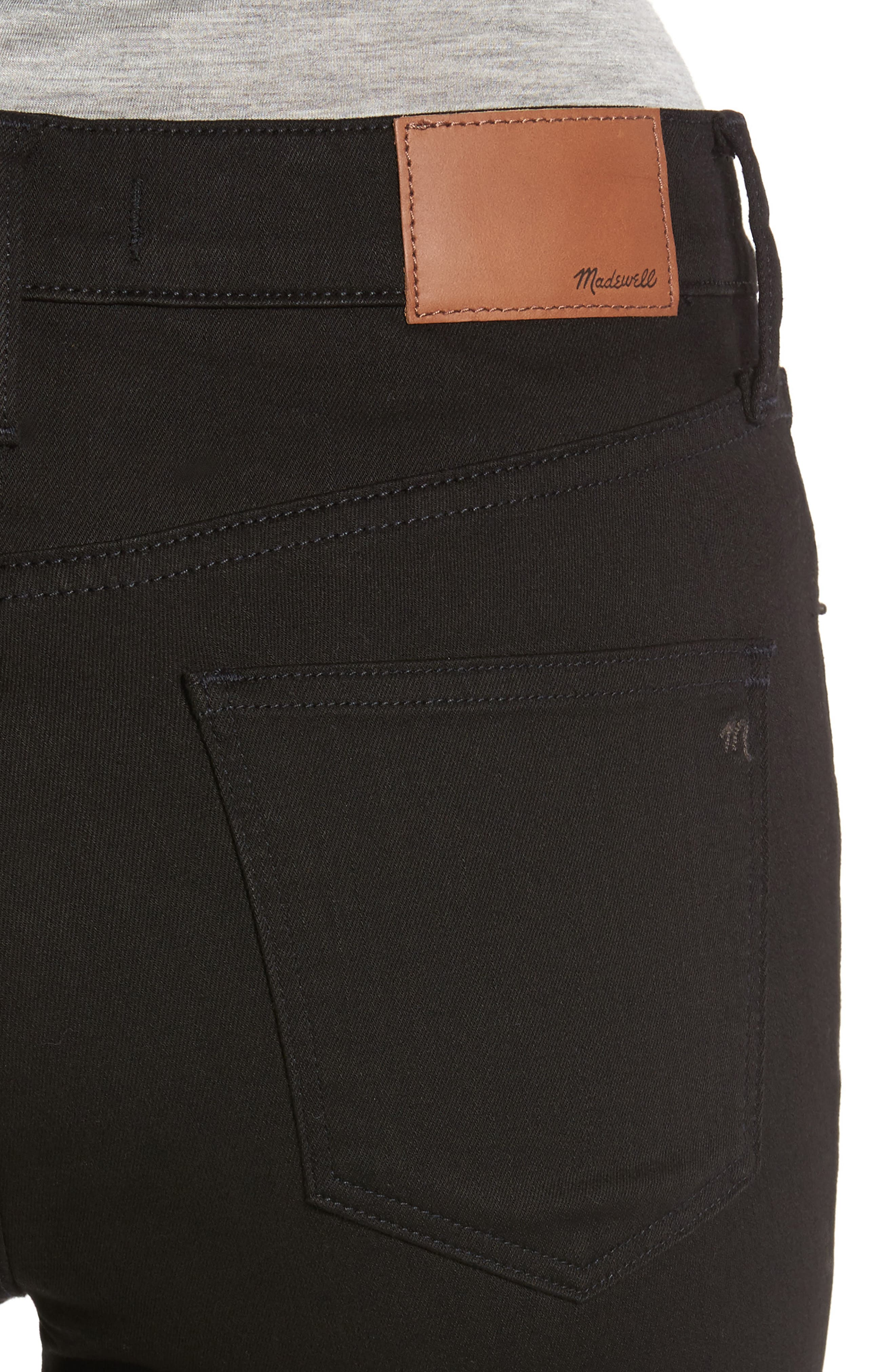 9-Inch High Waist Skinny Jeans,                             Alternate thumbnail 4, color,                             Black Frost