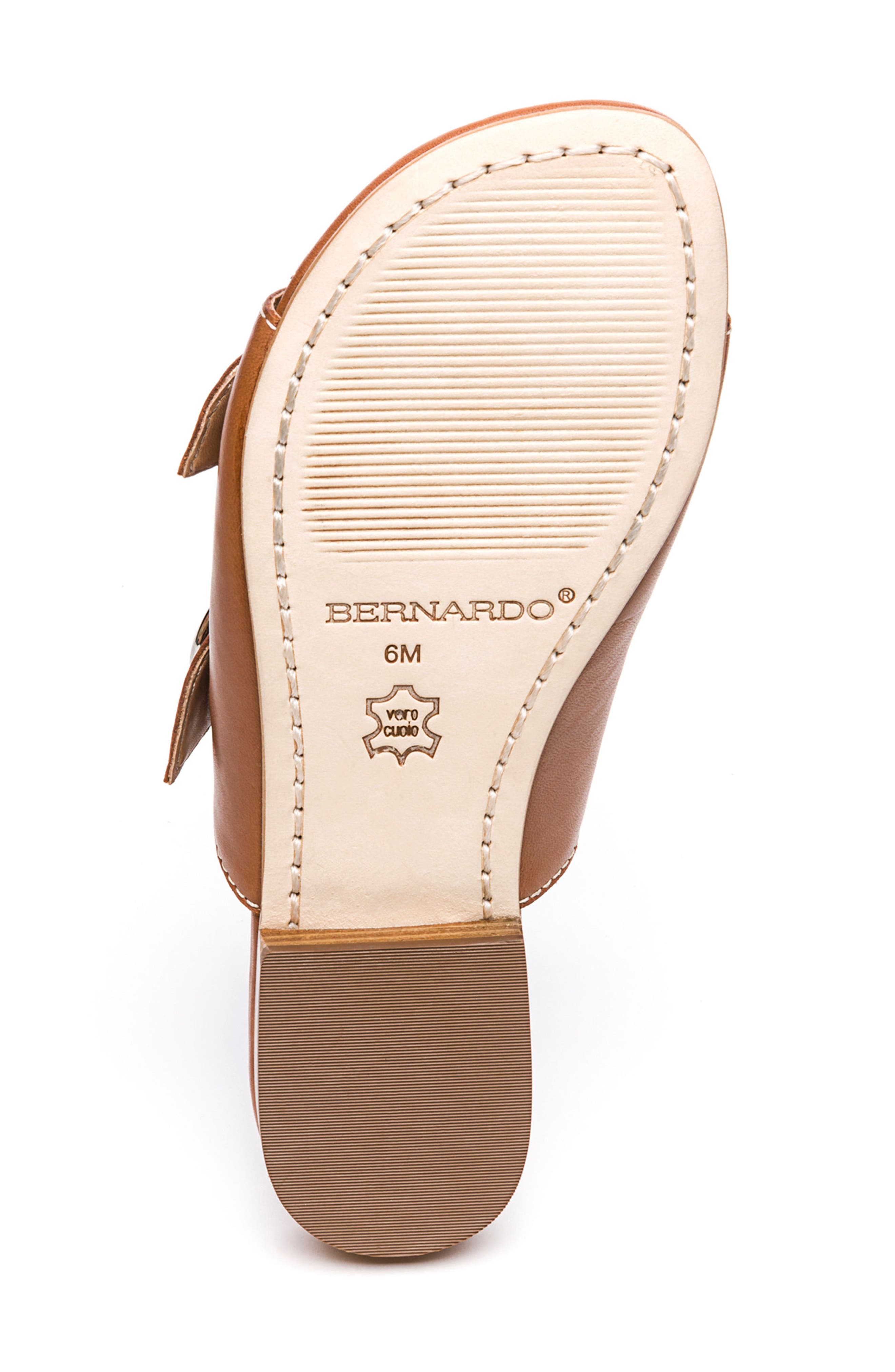 Bernardo Tobi Slide Sandal,                             Alternate thumbnail 6, color,                             Luggage Leather