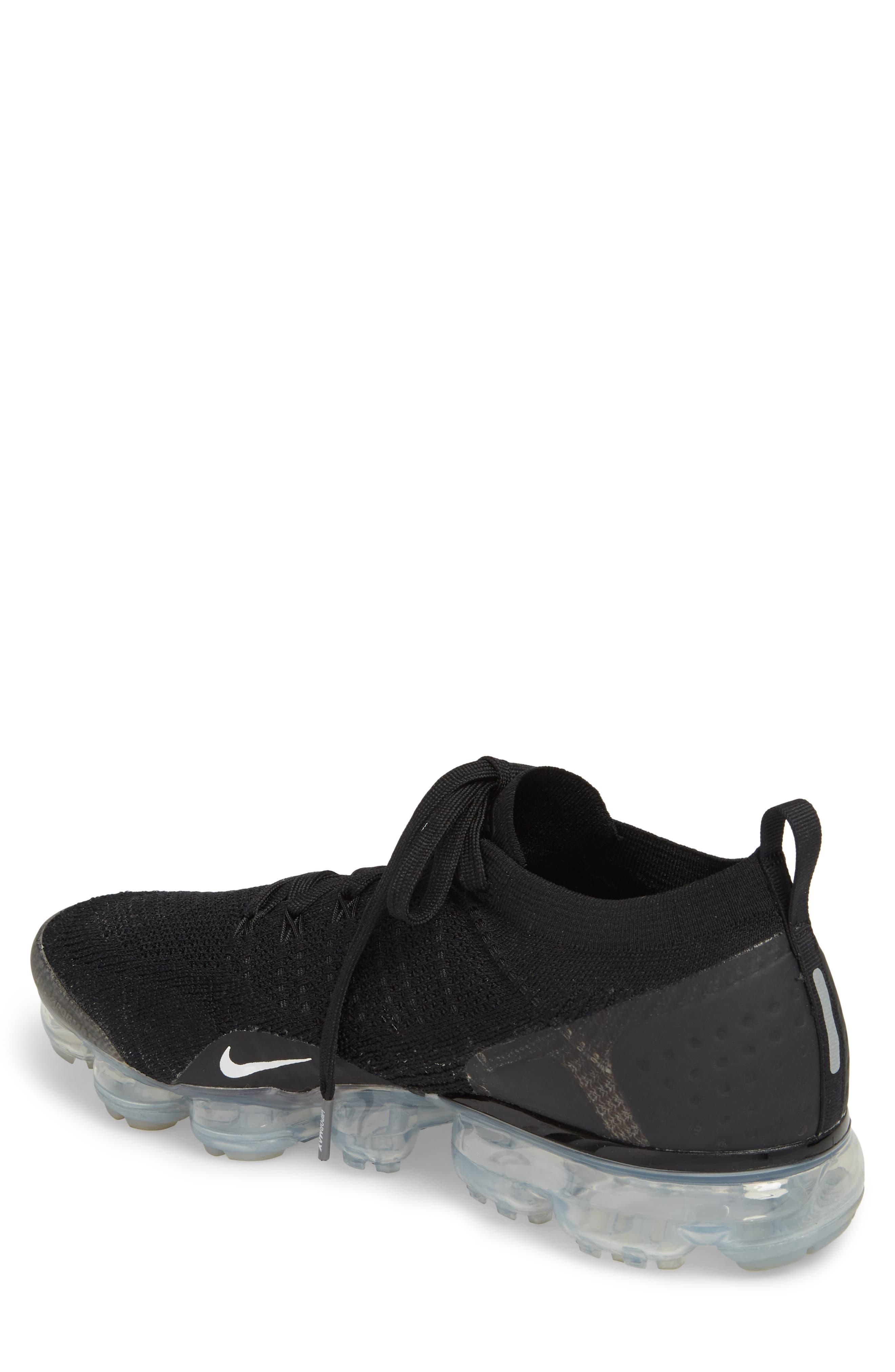 Air Vapormax Flyknit 2 Running Shoe,                             Alternate thumbnail 2, color,                             Black/ White/ Dark Grey