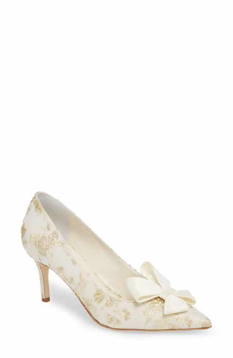 Something Bleu Caitlin Bow Pointy Toe Pump Women