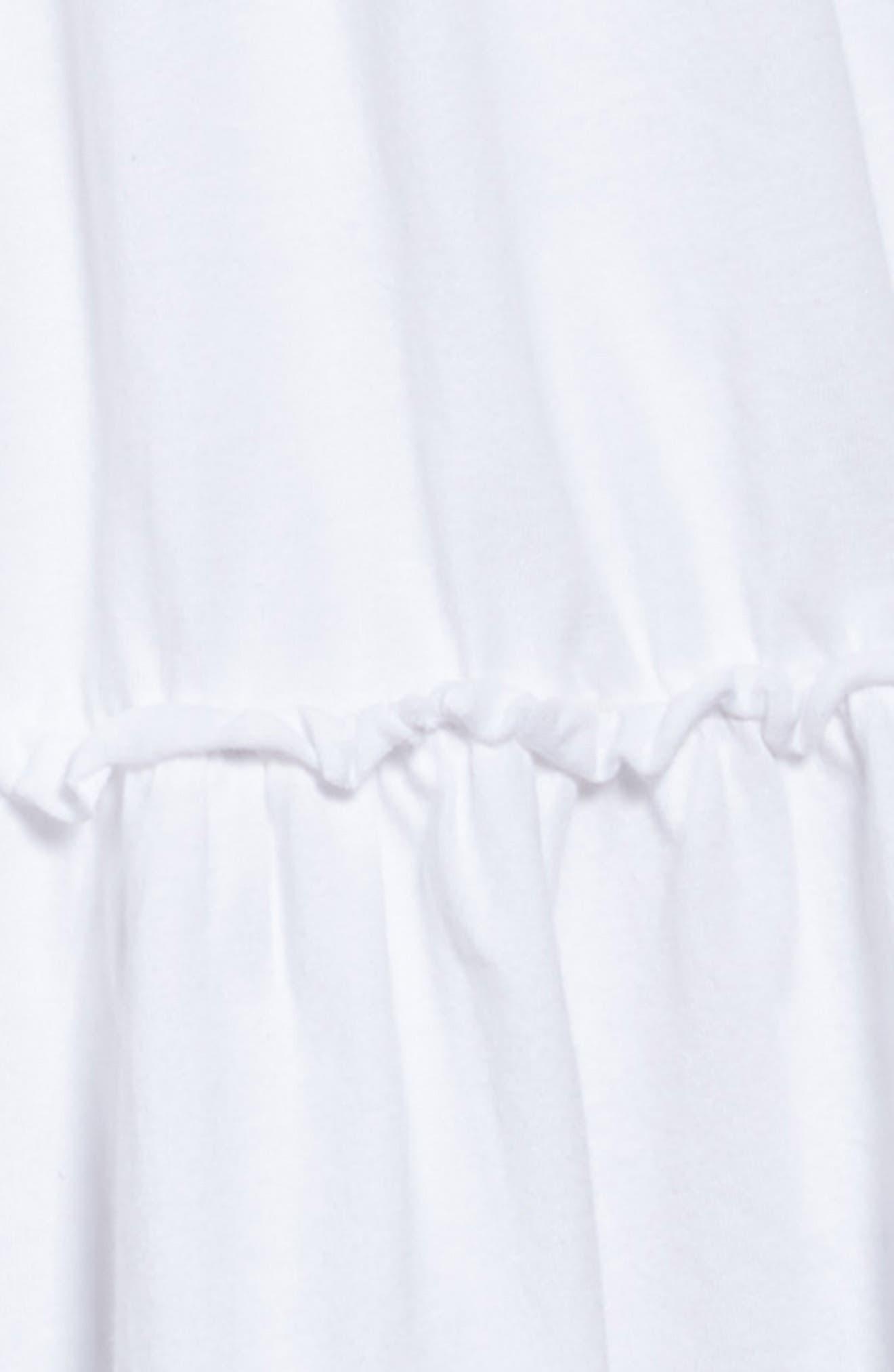 Ruffle T-Shirt Dress,                             Alternate thumbnail 3, color,                             White