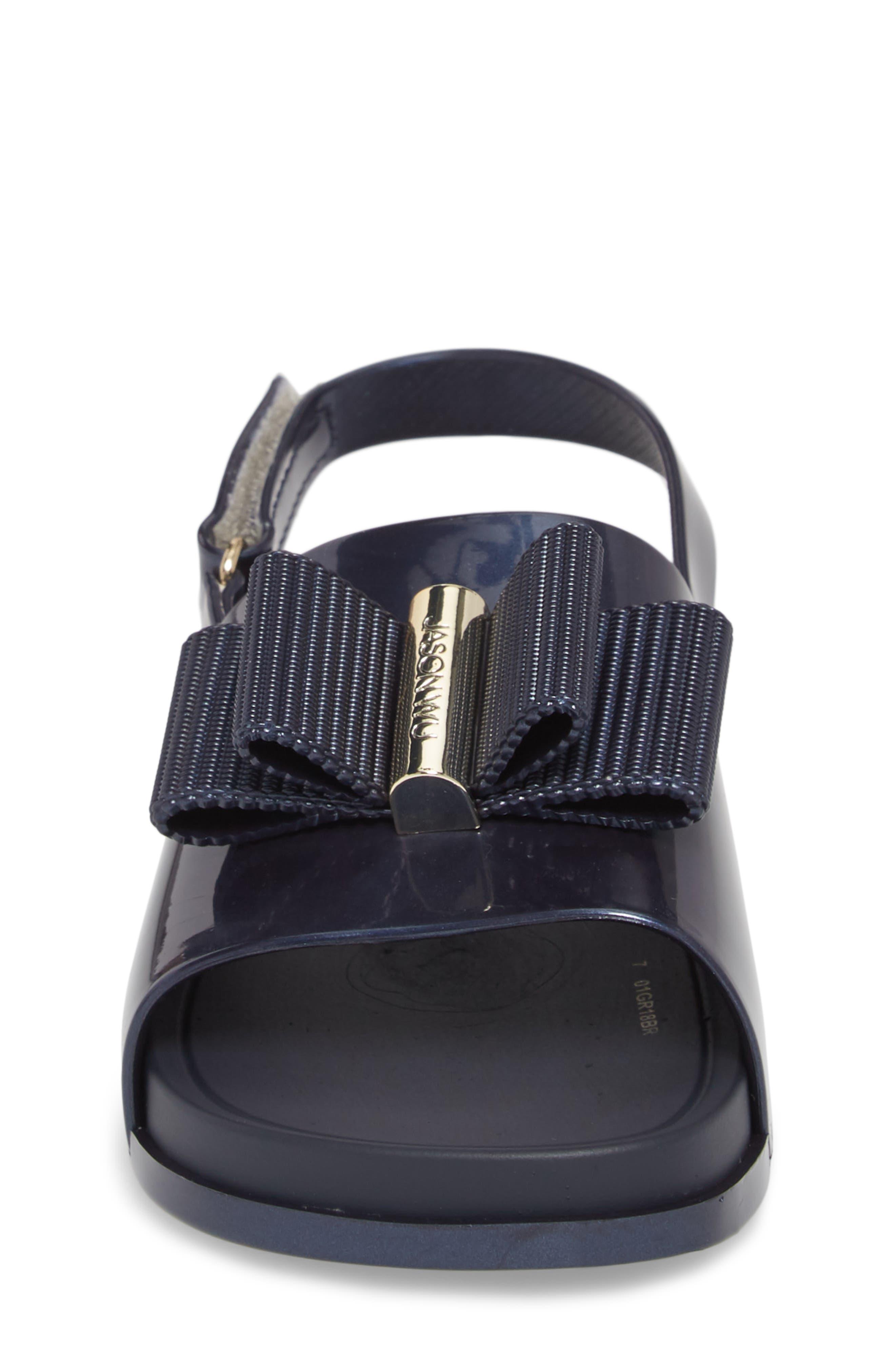 + Jason Wu Mini Beach Slide Sandal,                             Alternate thumbnail 4, color,                             Navy Dark