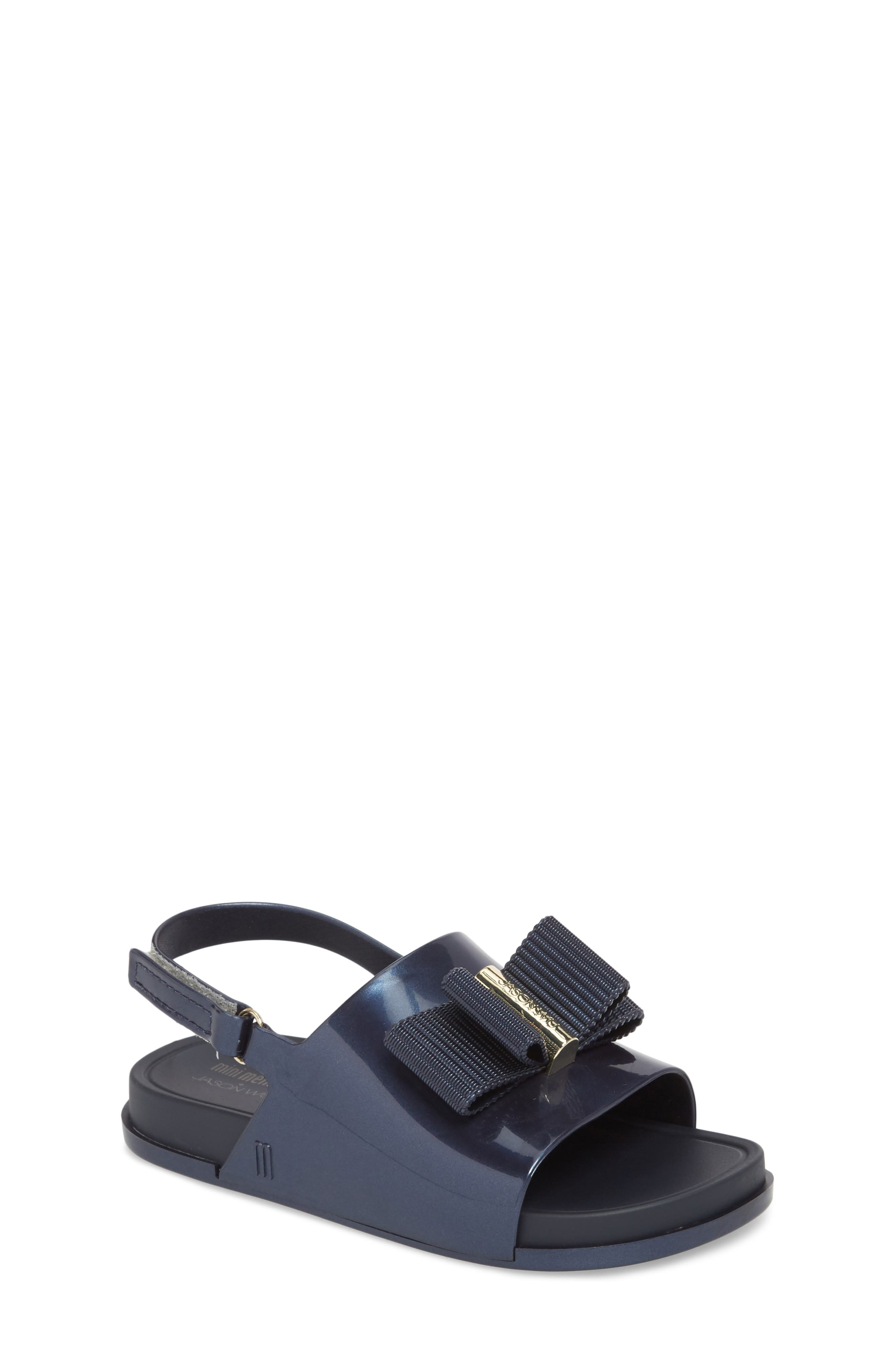 + Jason Wu Mini Beach Slide Sandal,                             Main thumbnail 1, color,                             Navy Dark