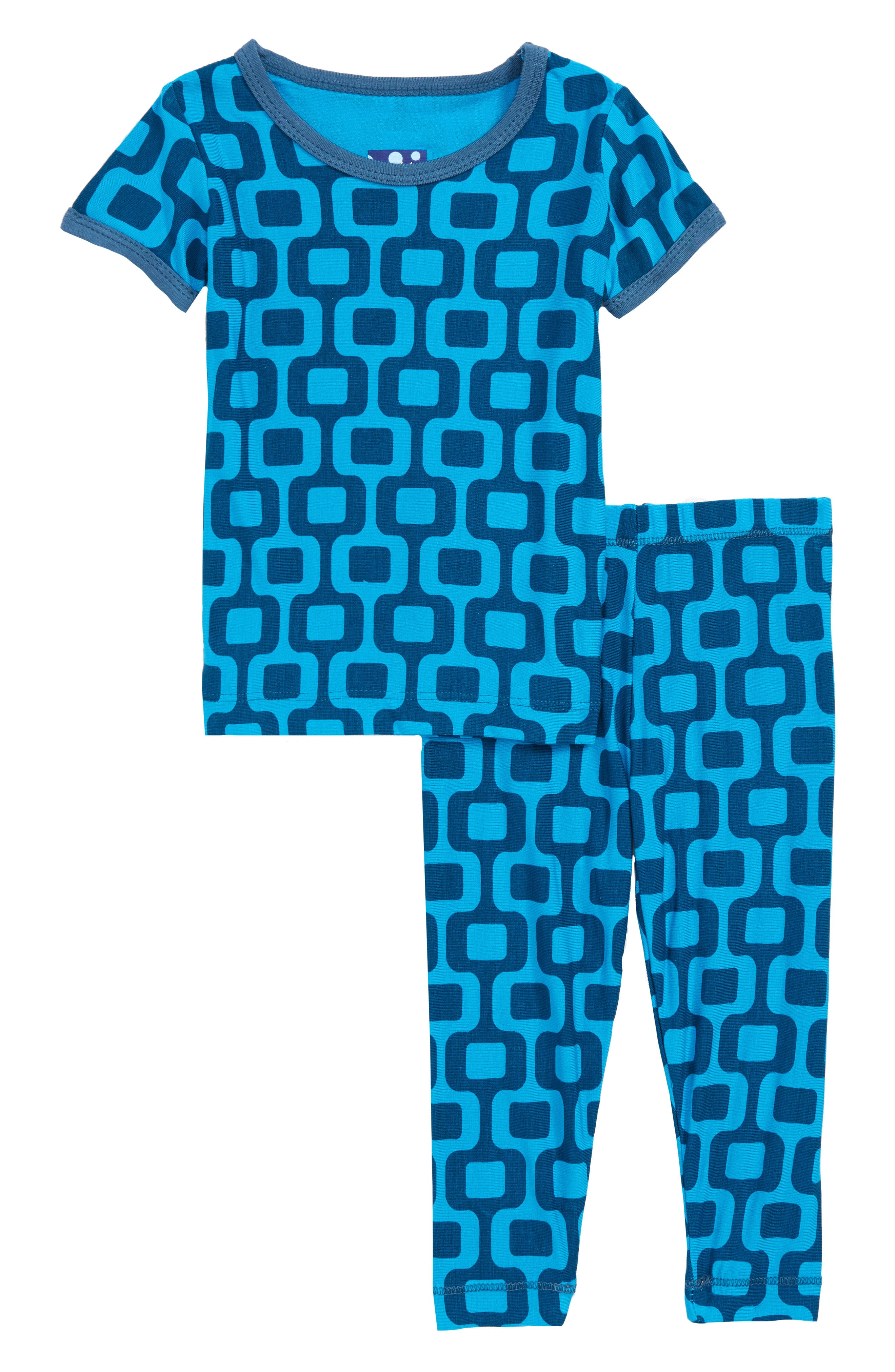 Two-Piece Fitted Pajamas,                             Main thumbnail 1, color,                             Ipanema
