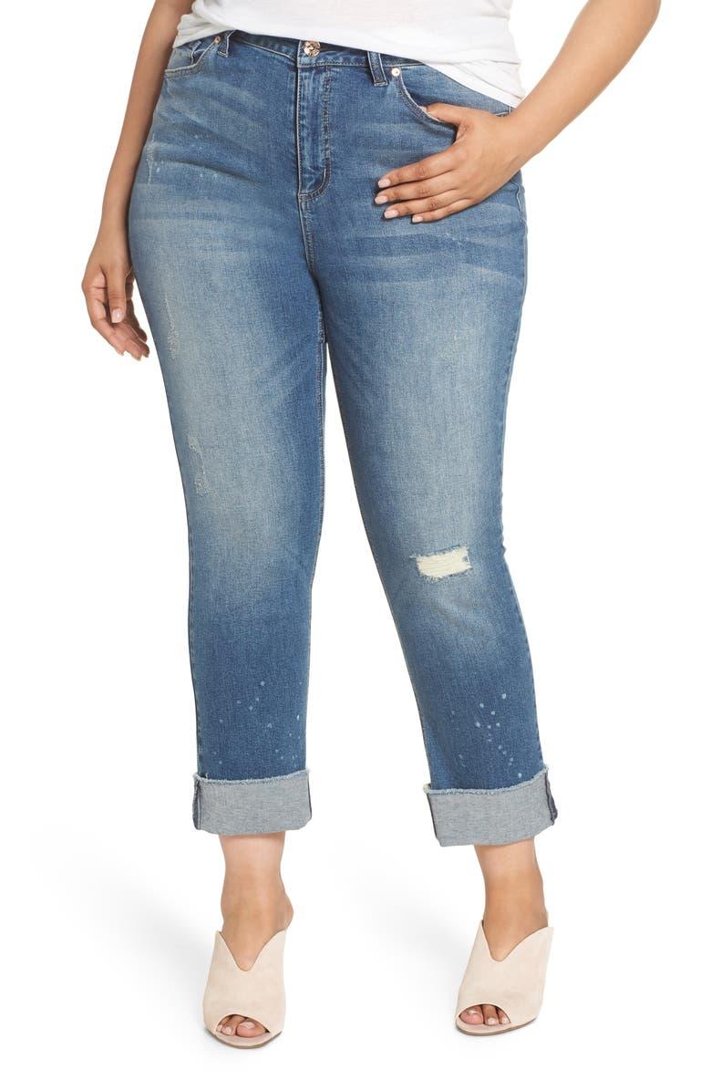 High Rise Slim Fit Straight Leg Jeans
