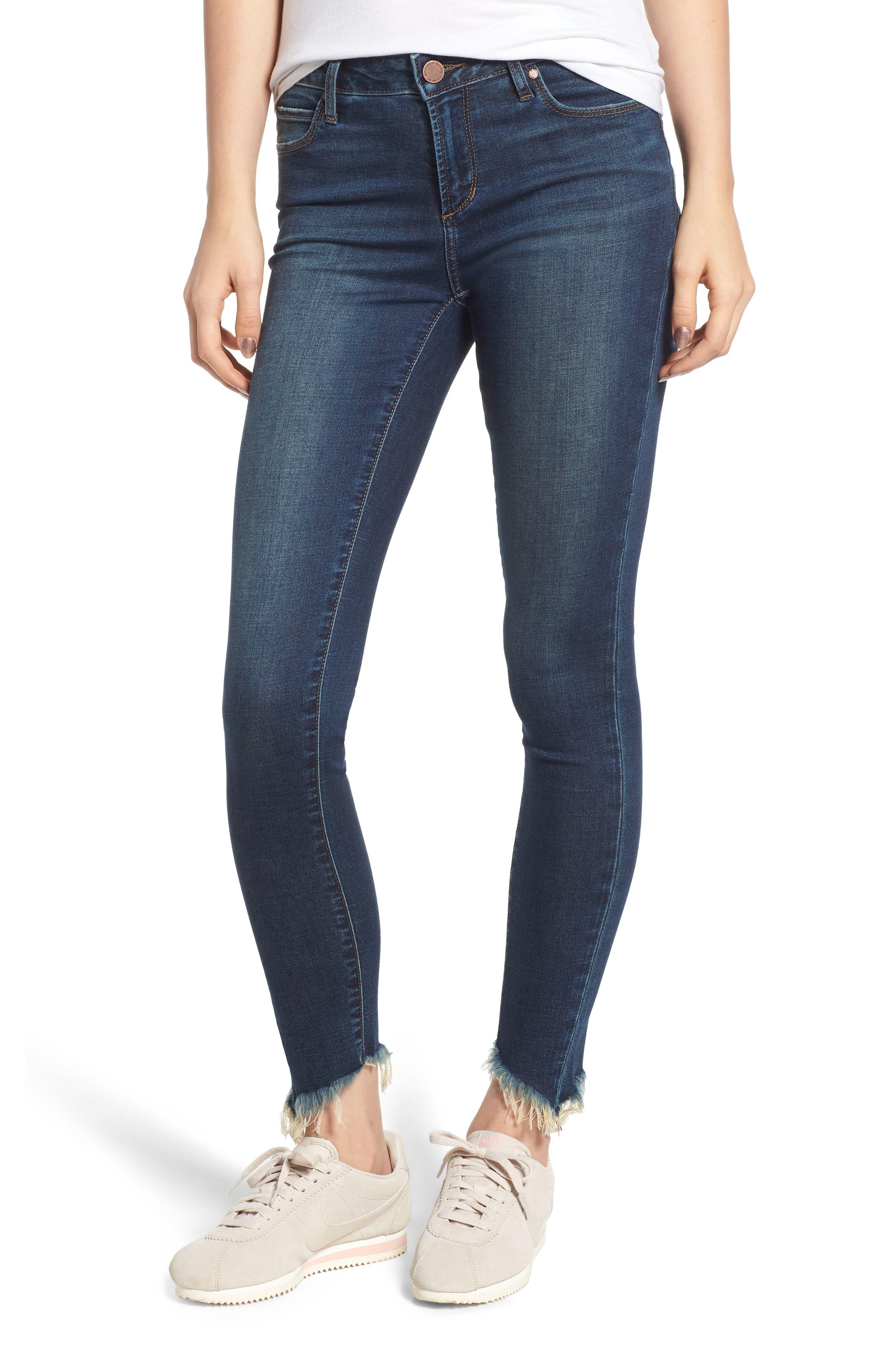 ARTICLES OF SOCIETY Sammy Fray Hem Skinny Jeans in Providence