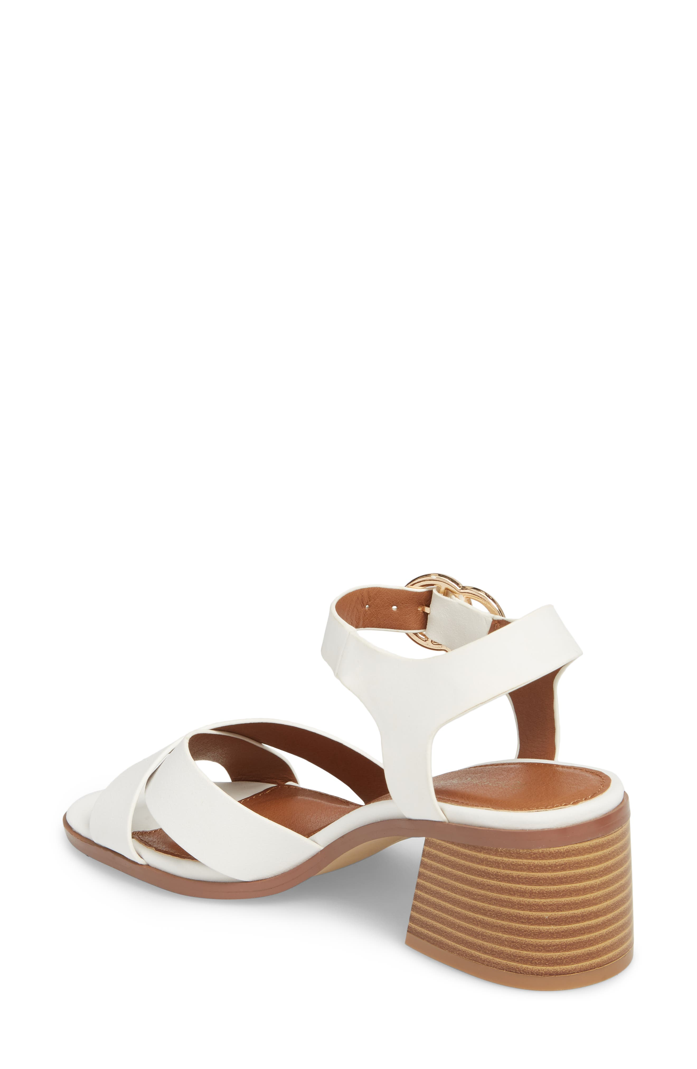 Dee Dee Block Heel Sandal,                             Alternate thumbnail 2, color,                             White Multi