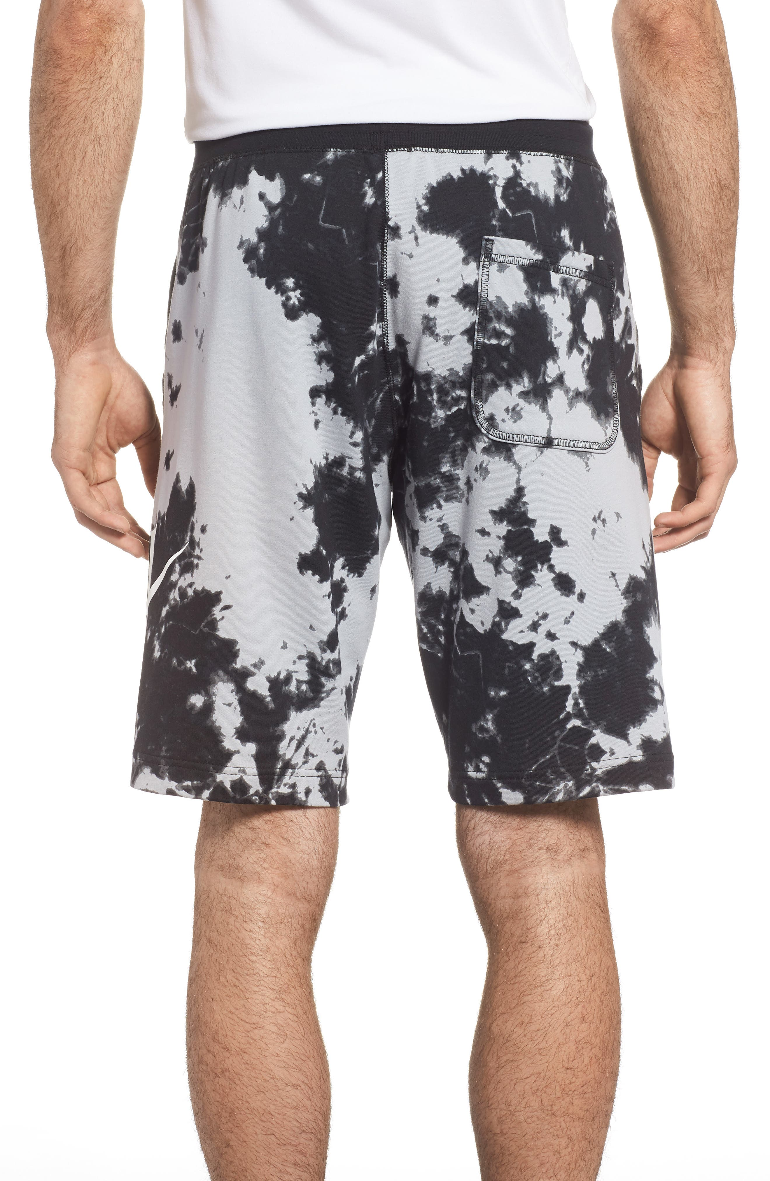 NSW Alumni Tie-Dye Shorts,                             Alternate thumbnail 2, color,                             Wolf Grey/ Black/ White