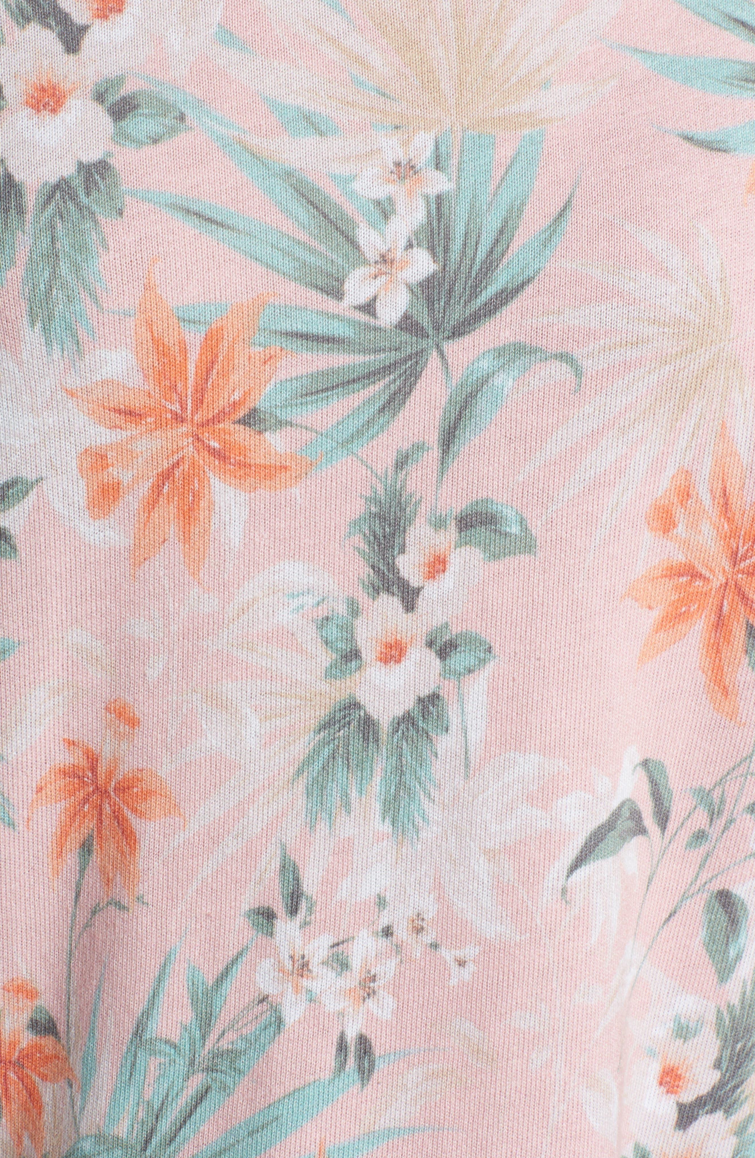 Tropical Crop Sweatshirt,                             Alternate thumbnail 6, color,                             Peach