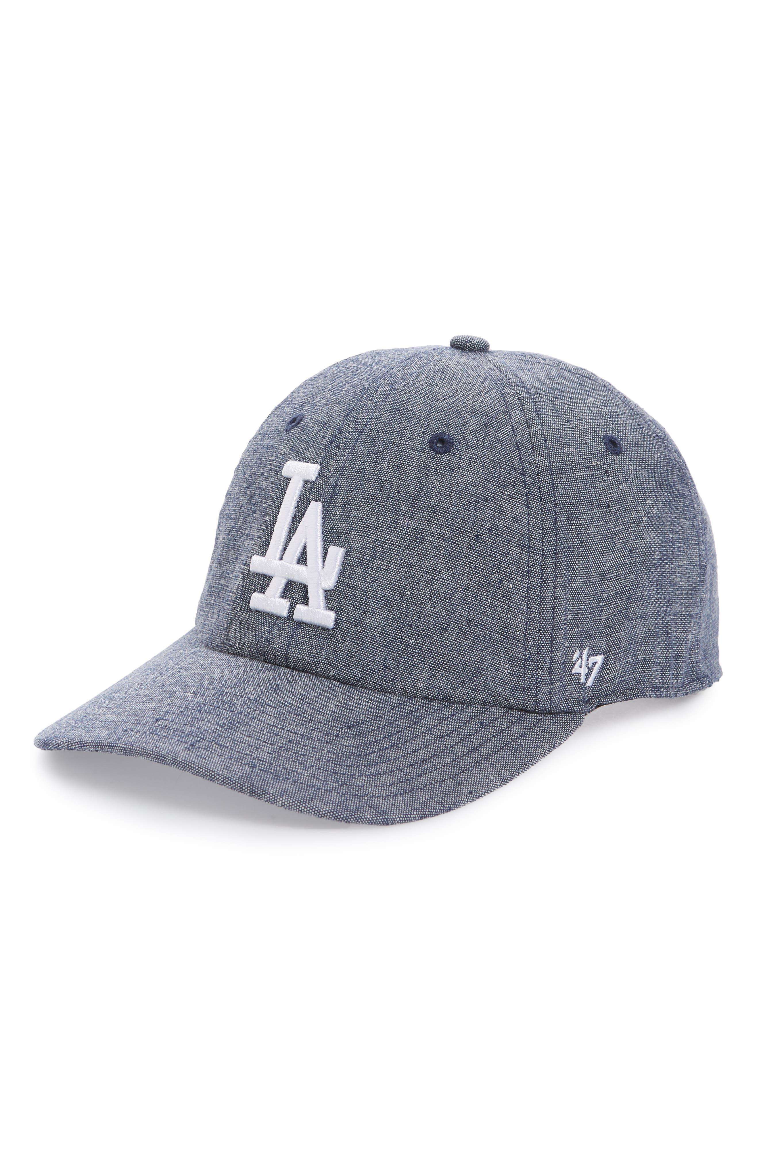 Emery Clean Up LA Dodgers Baseball Cap,                         Main,                         color, Navy