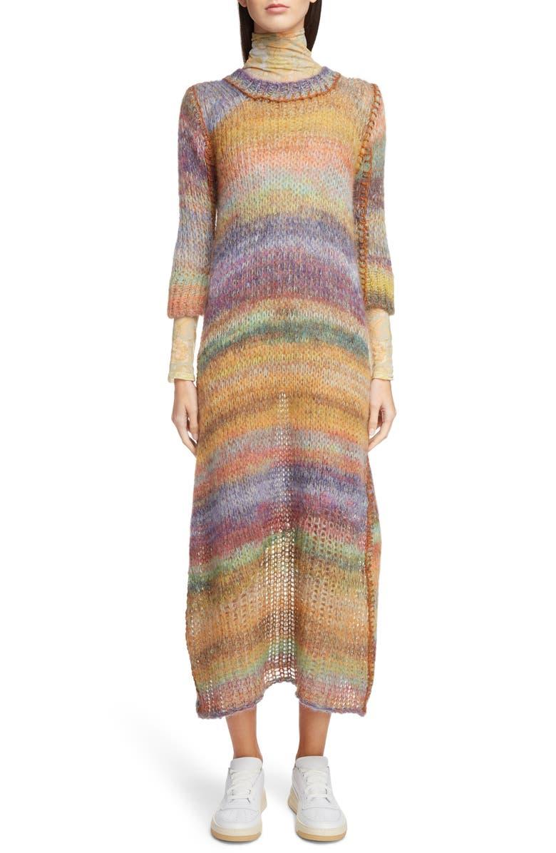 Space-Dye Stripe Sweater Dress