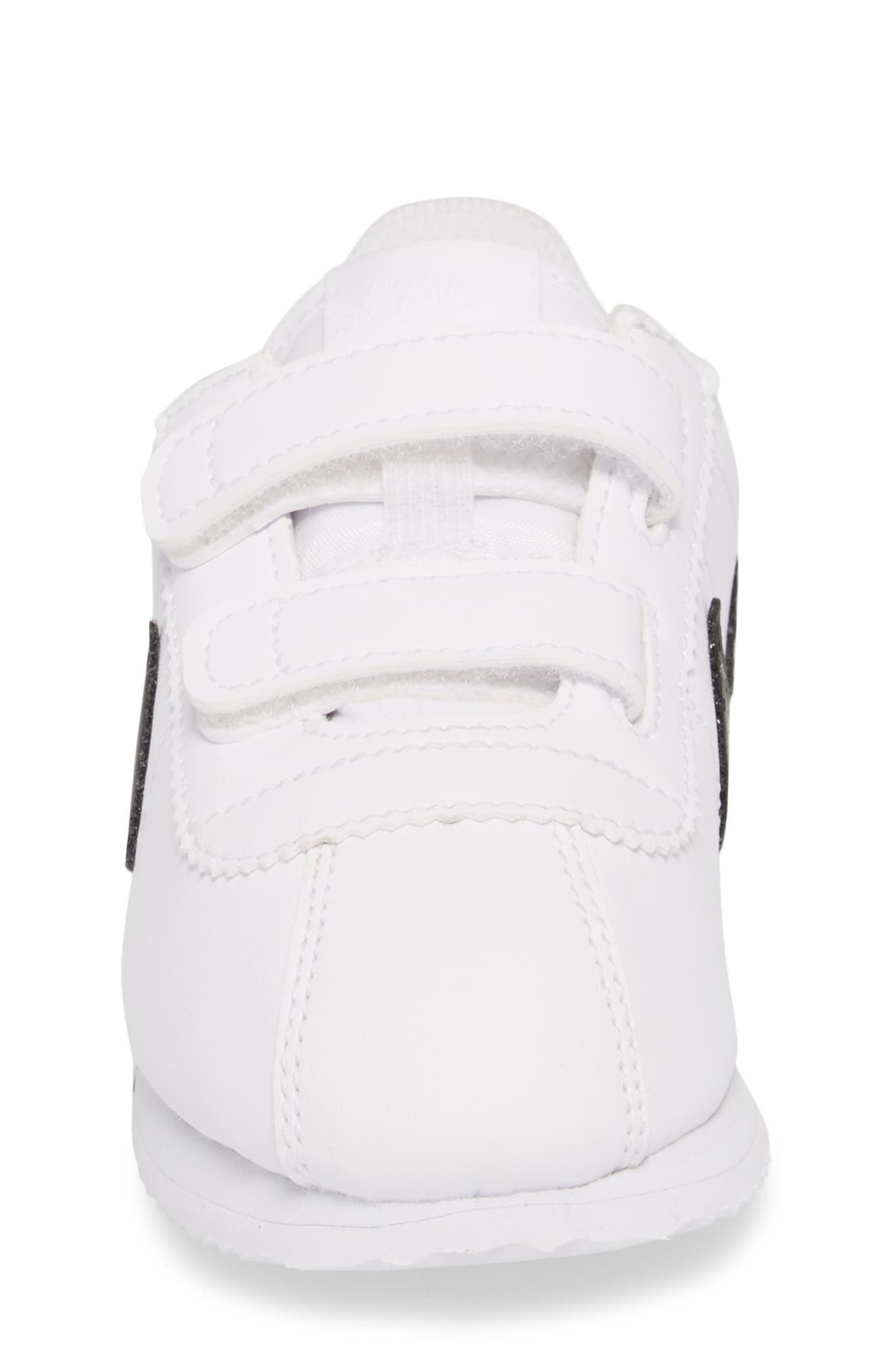 Cortez Basic SL Sneaker,                             Alternate thumbnail 4, color,                             White/ Black