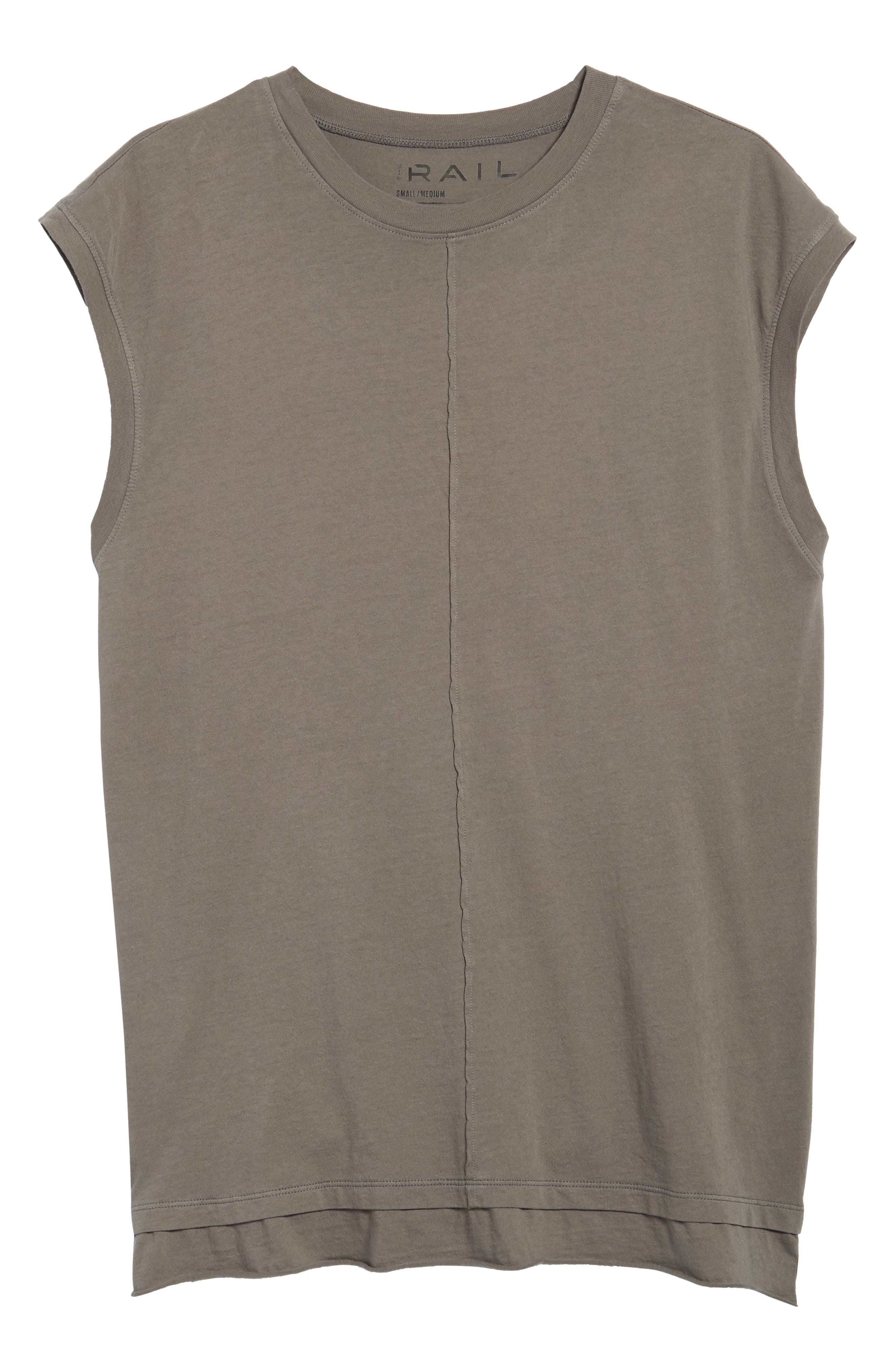 Layered Muscle Tank,                             Alternate thumbnail 6, color,                             Grey Charcoal