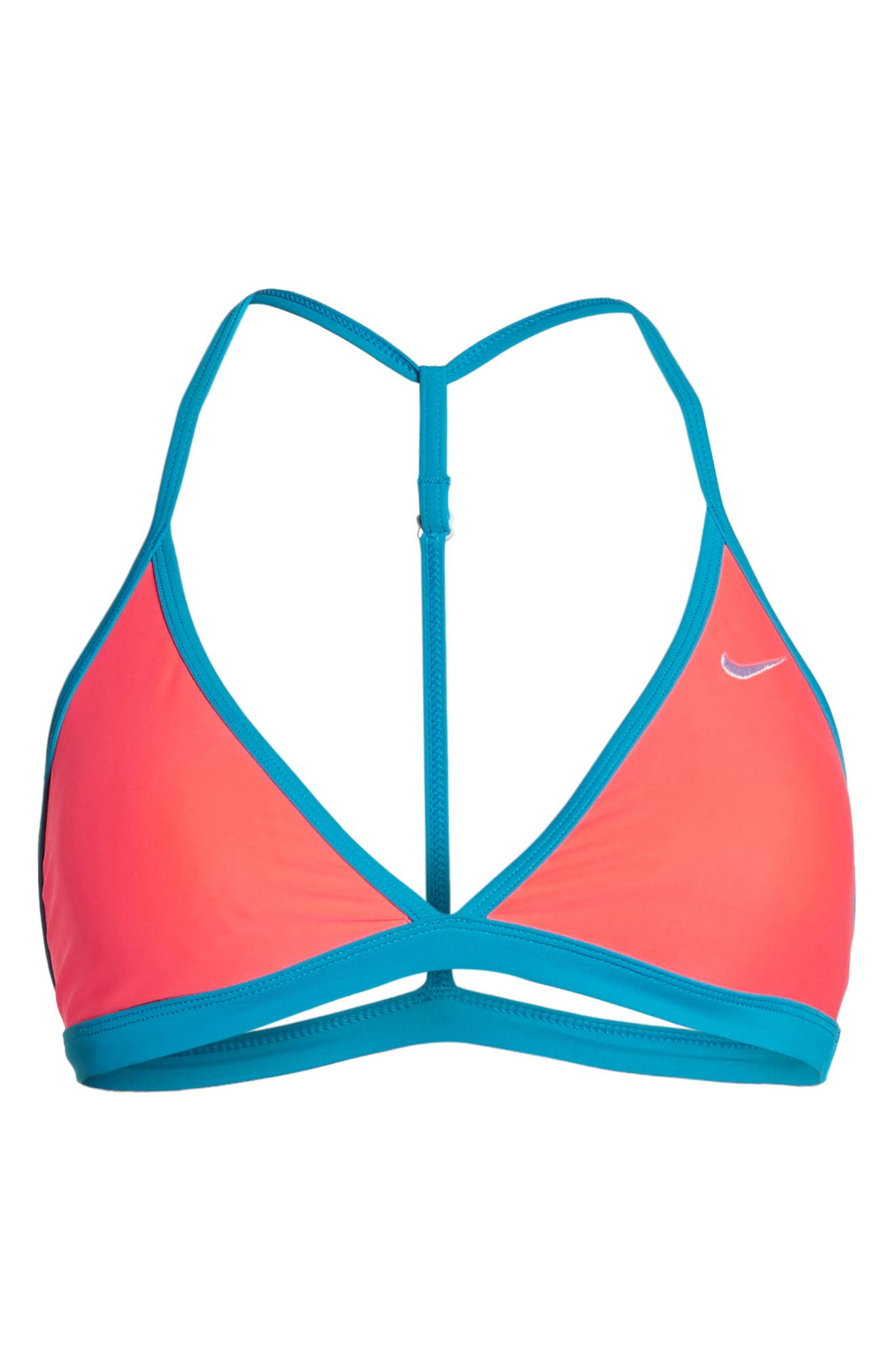Triangle Bikini Top,                             Alternate thumbnail 6, color,                             Hot Punch