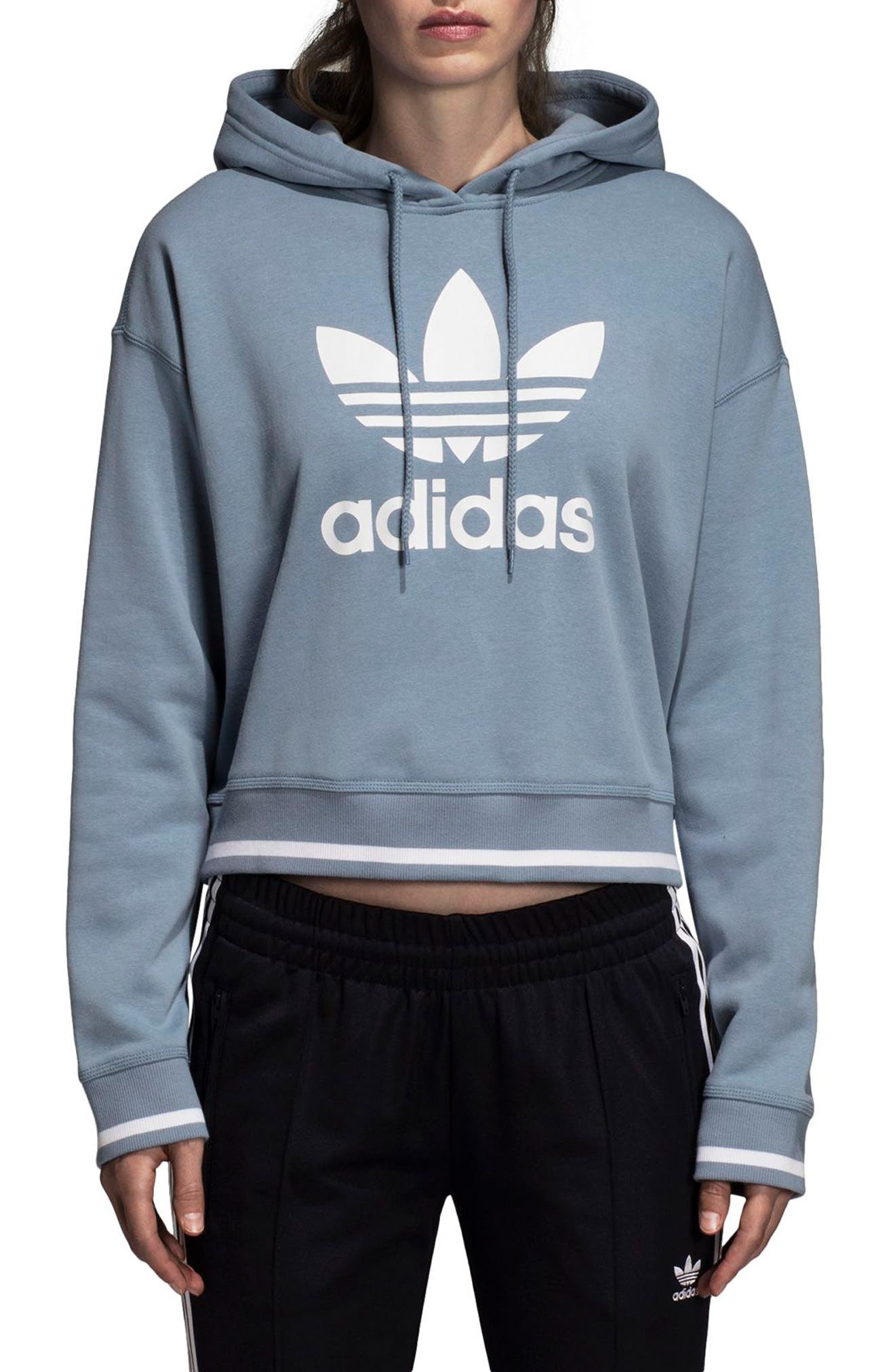 Active Icons Crop Hoodie by Adidas